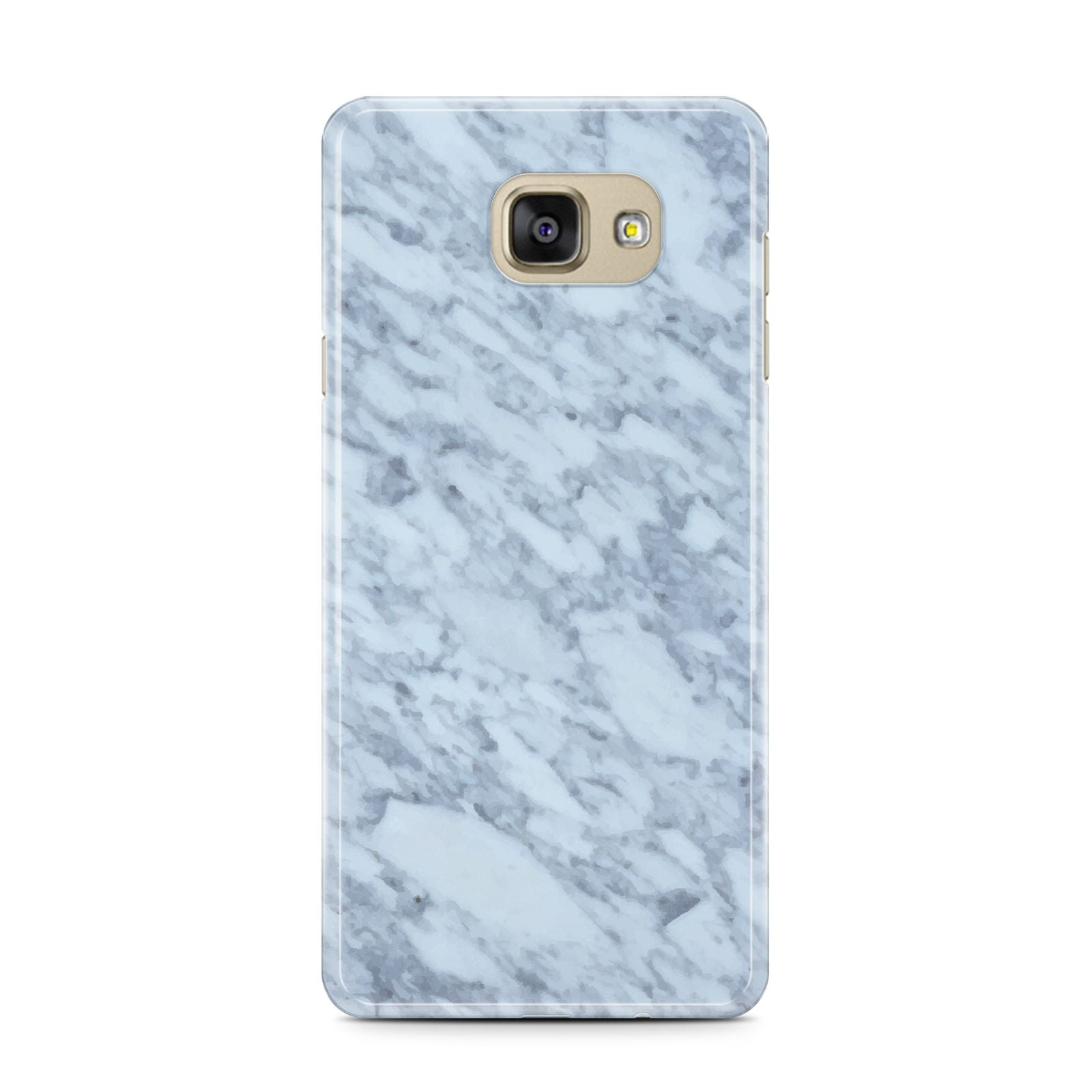 Faux Marble Grey 2 Samsung Galaxy A7 2016 Case on gold phone