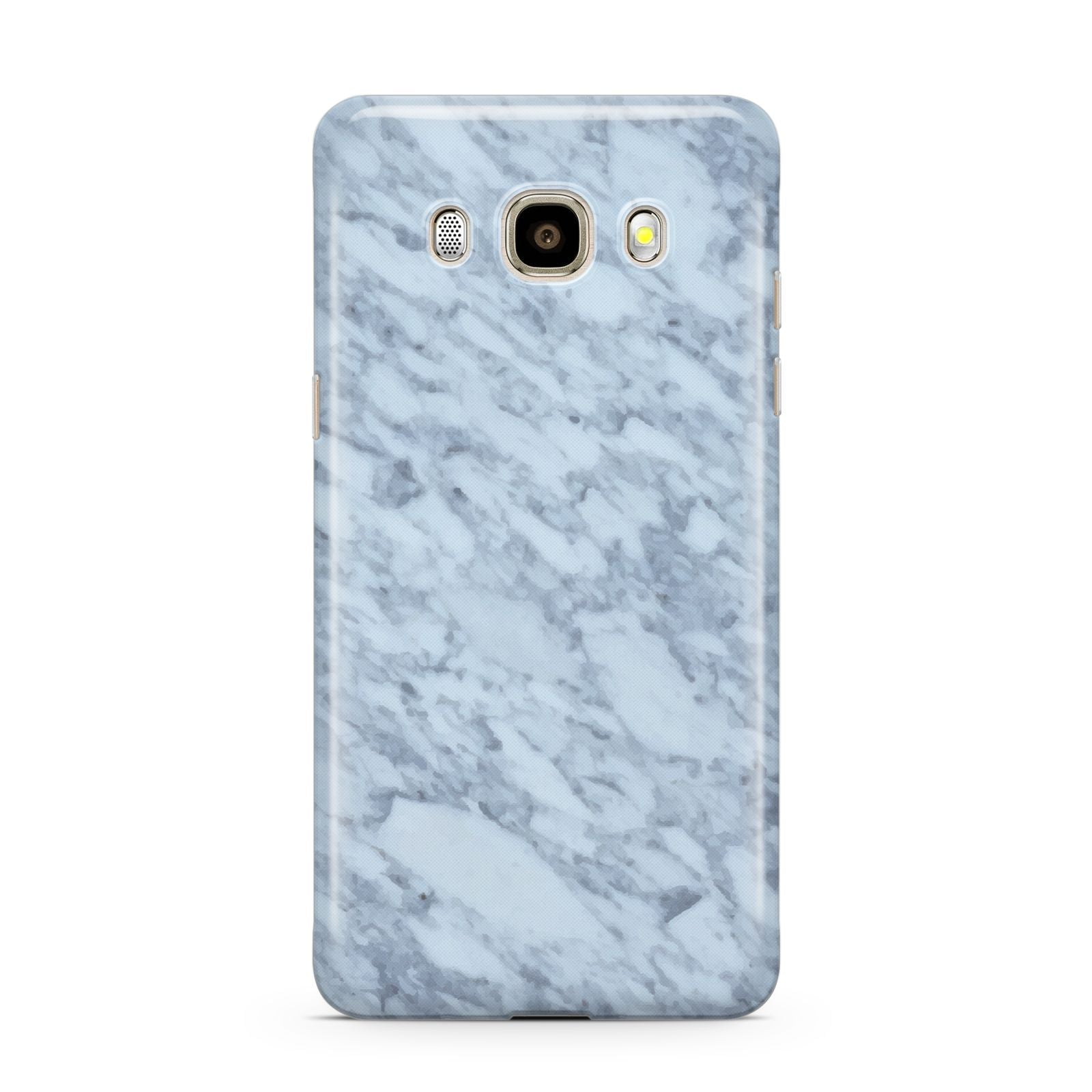 Faux Marble Grey 2 Samsung Galaxy J7 2016 Case on gold phone