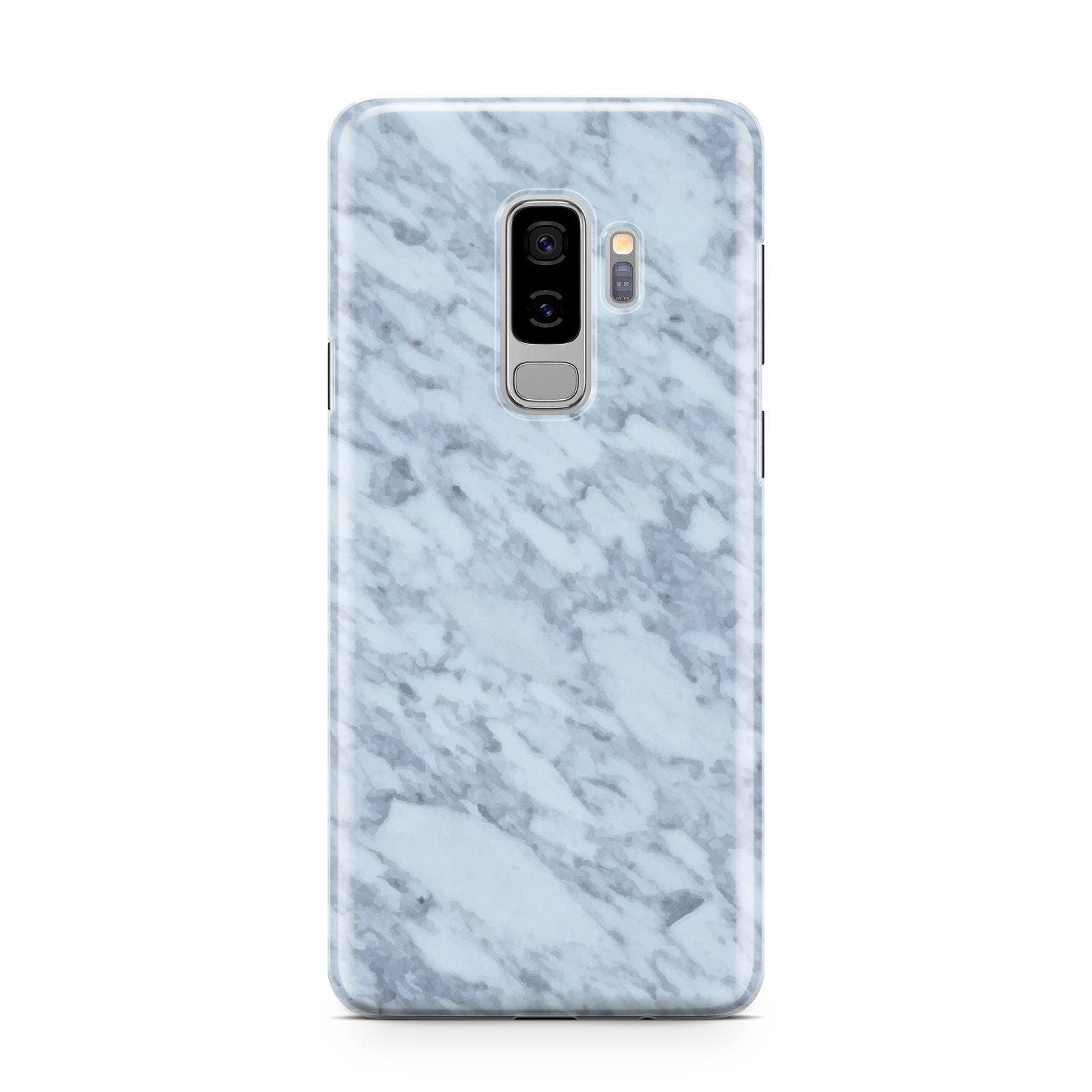 Faux Marble Grey 2 Samsung Galaxy S9 Plus Case on Silver phone