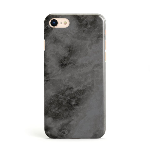 Faux Marble Grey Black Apple iPhone Case
