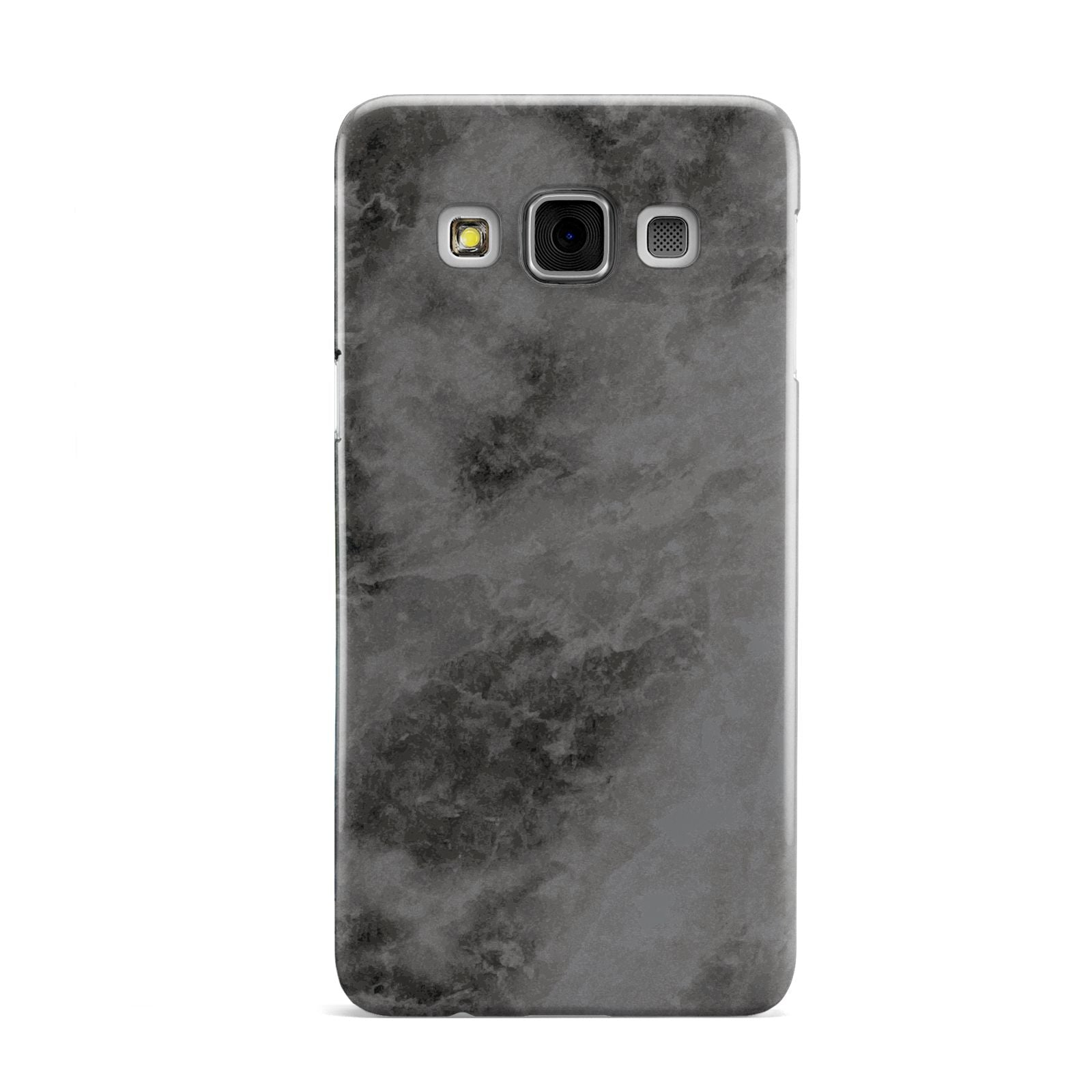 Faux Marble Grey Black Samsung Galaxy A3 Case