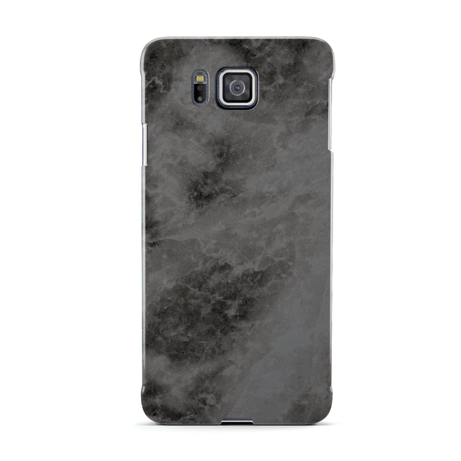 Faux Marble Grey Black Samsung Galaxy Alpha Case