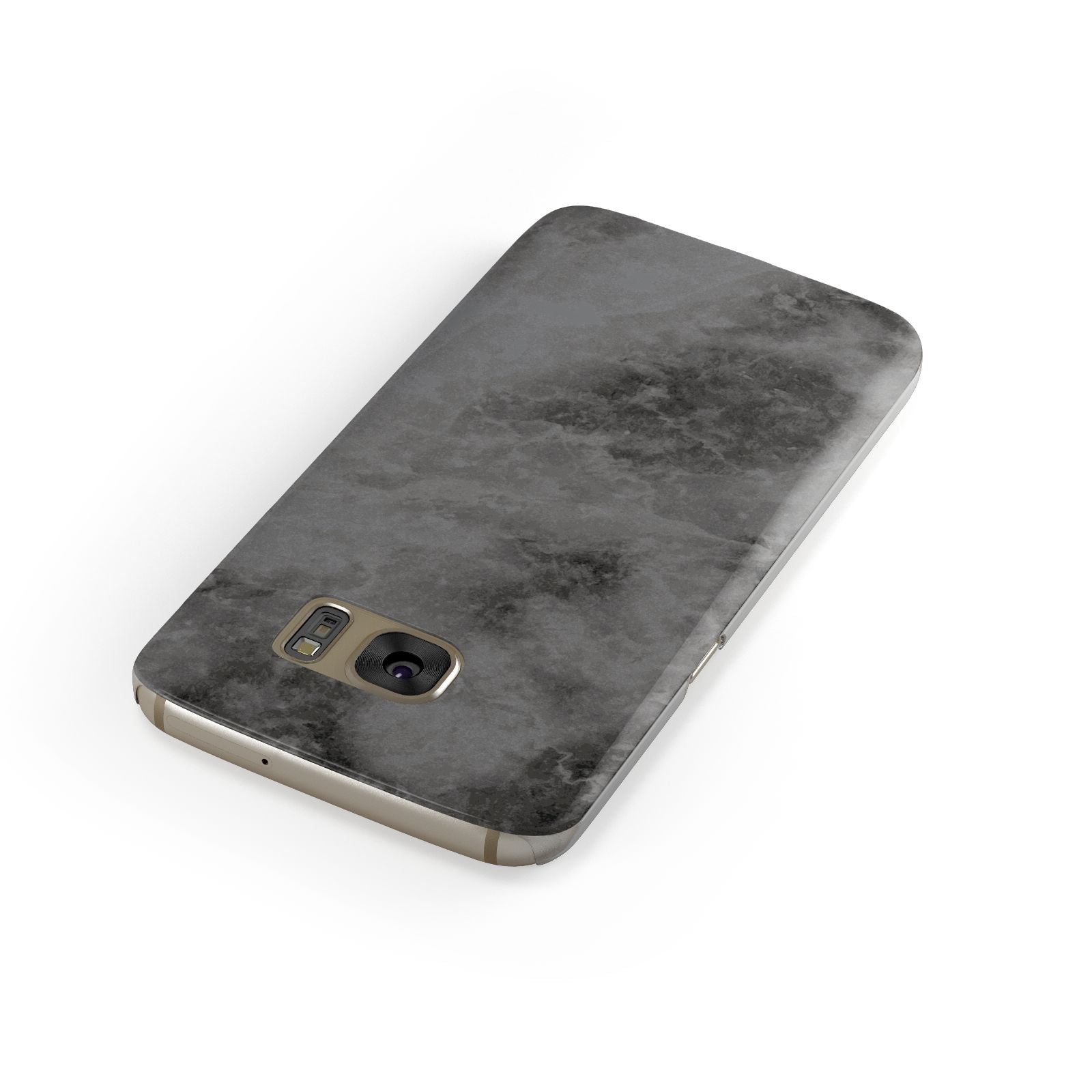 Faux Marble Grey Black Samsung Galaxy Case Front Close Up