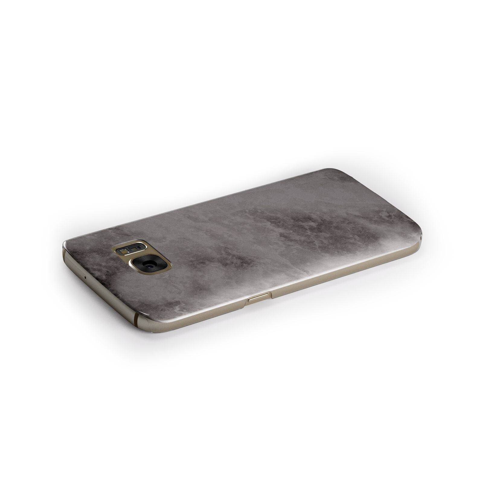 Faux Marble Grey Black Samsung Galaxy Case Side Close Up