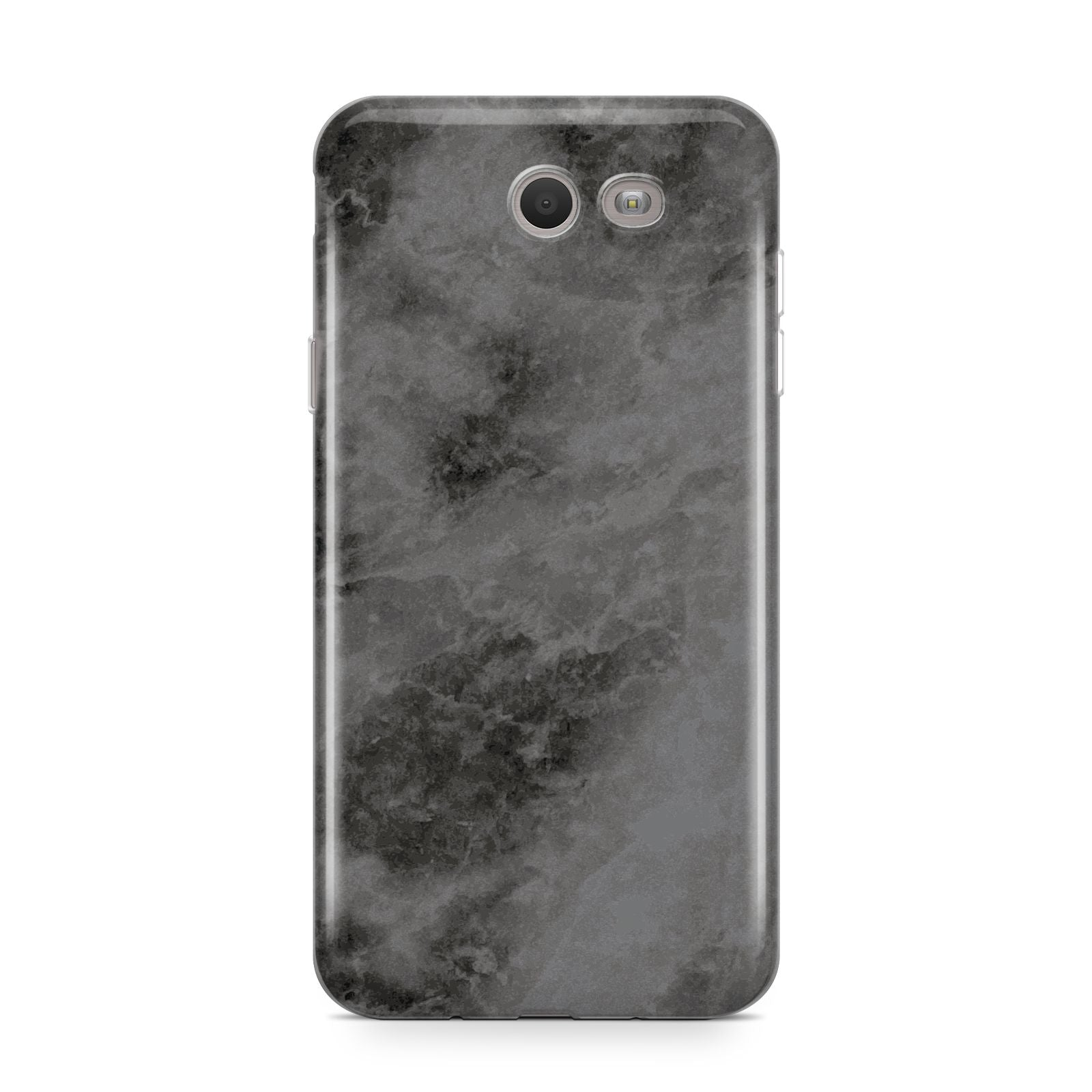 Faux Marble Grey Black Samsung Galaxy J7 2017 Case
