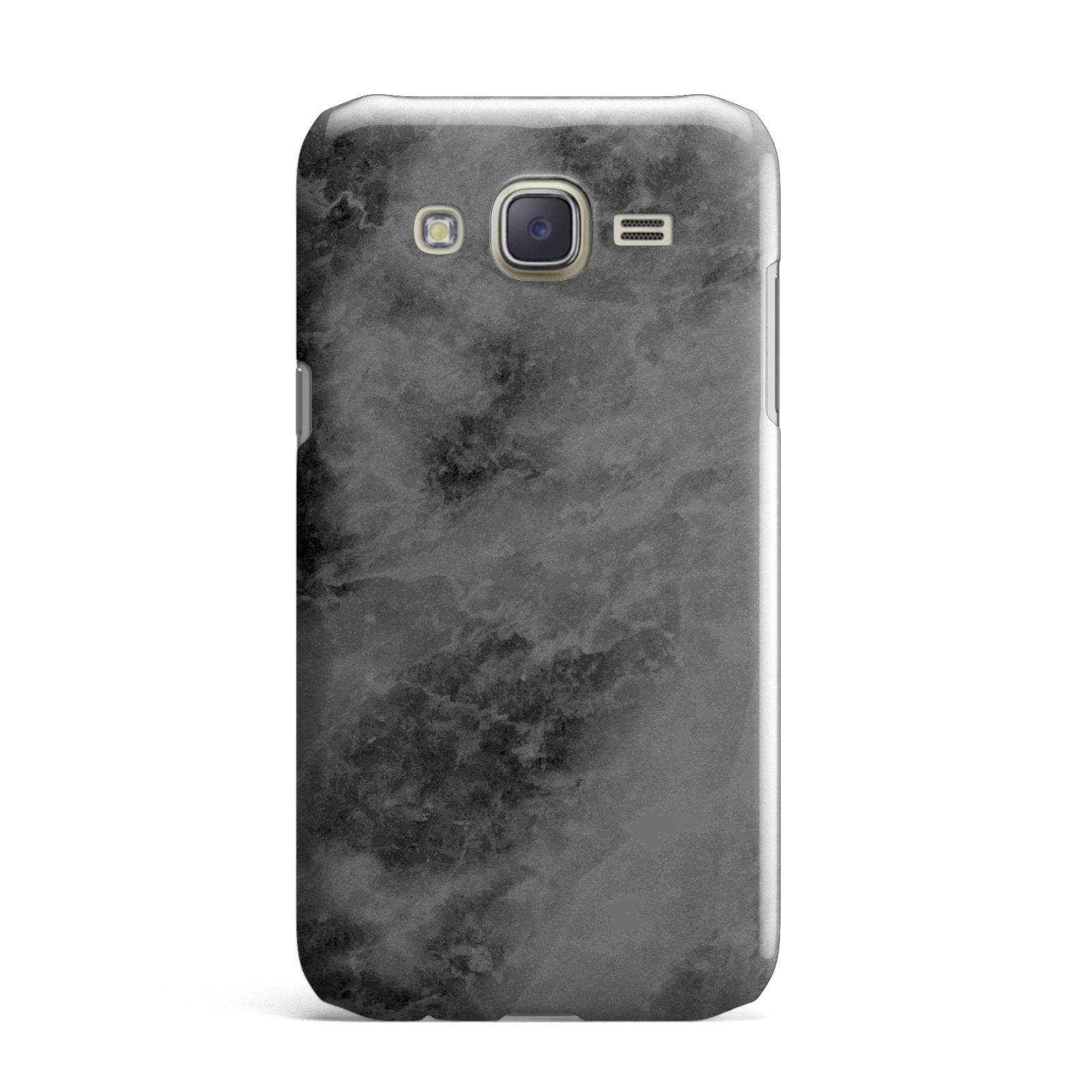 Faux Marble Grey Black Samsung Galaxy J7 Case