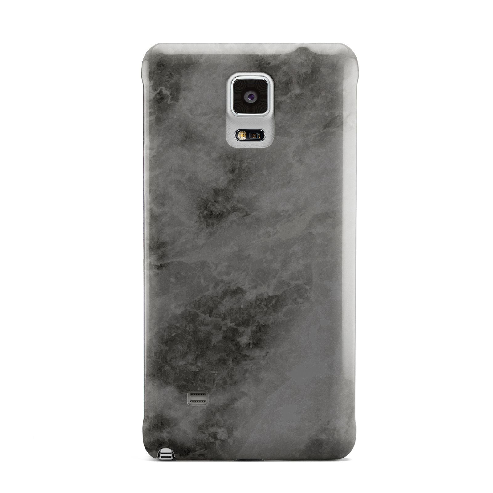 Faux Marble Grey Black Samsung Galaxy Note 4 Case