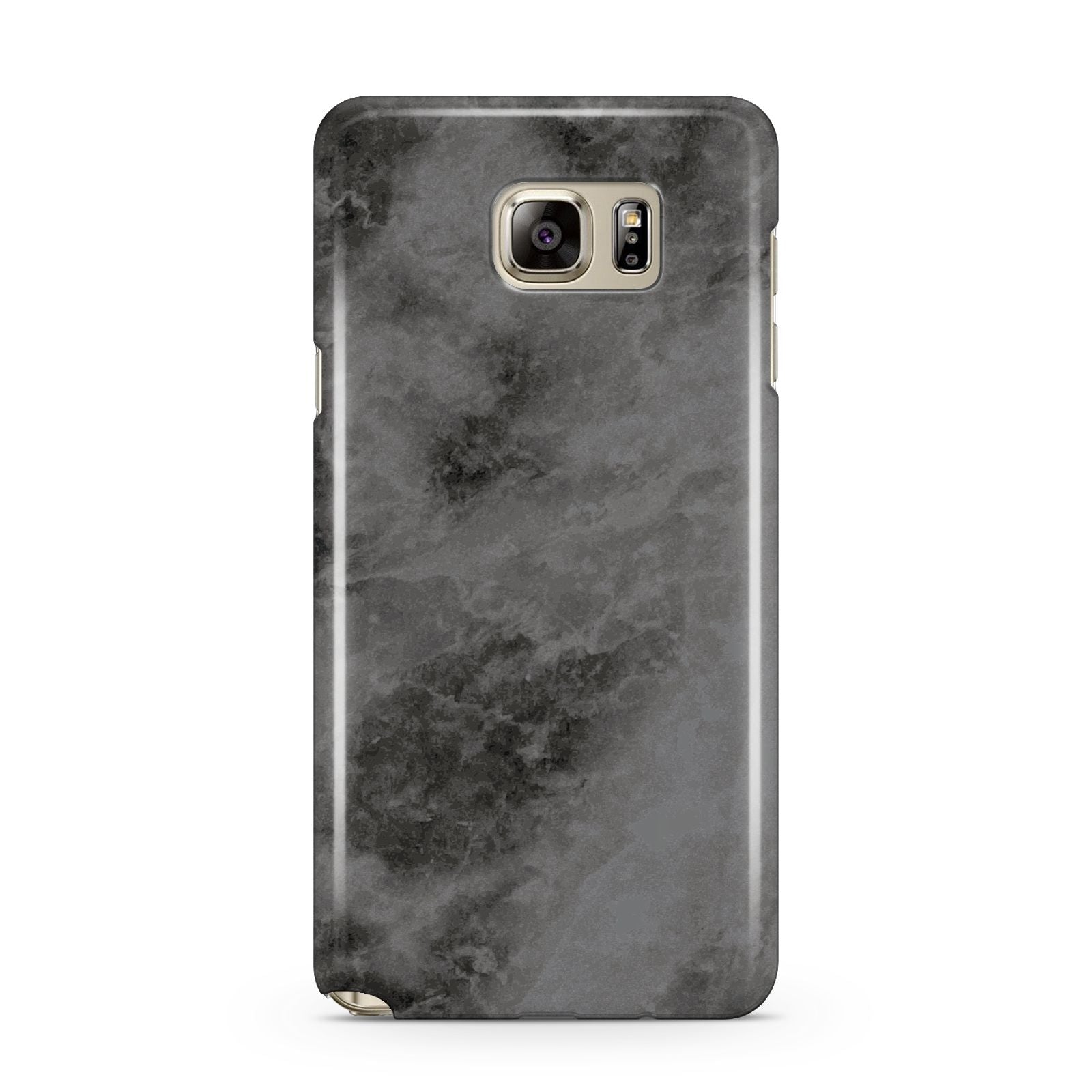Faux Marble Grey Black Samsung Galaxy Note 5 Case