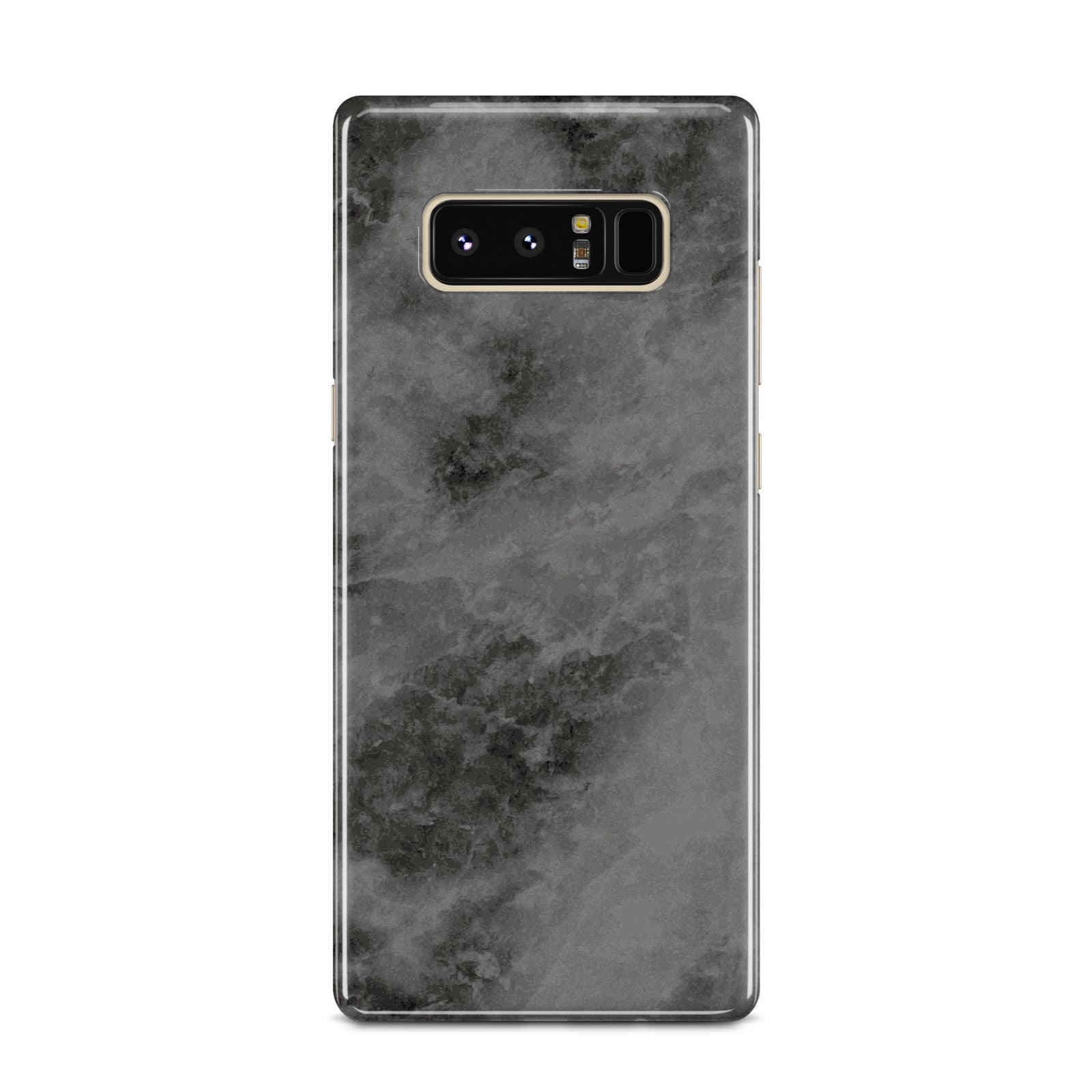 Faux Marble Grey Black Samsung Galaxy Note 8 Case
