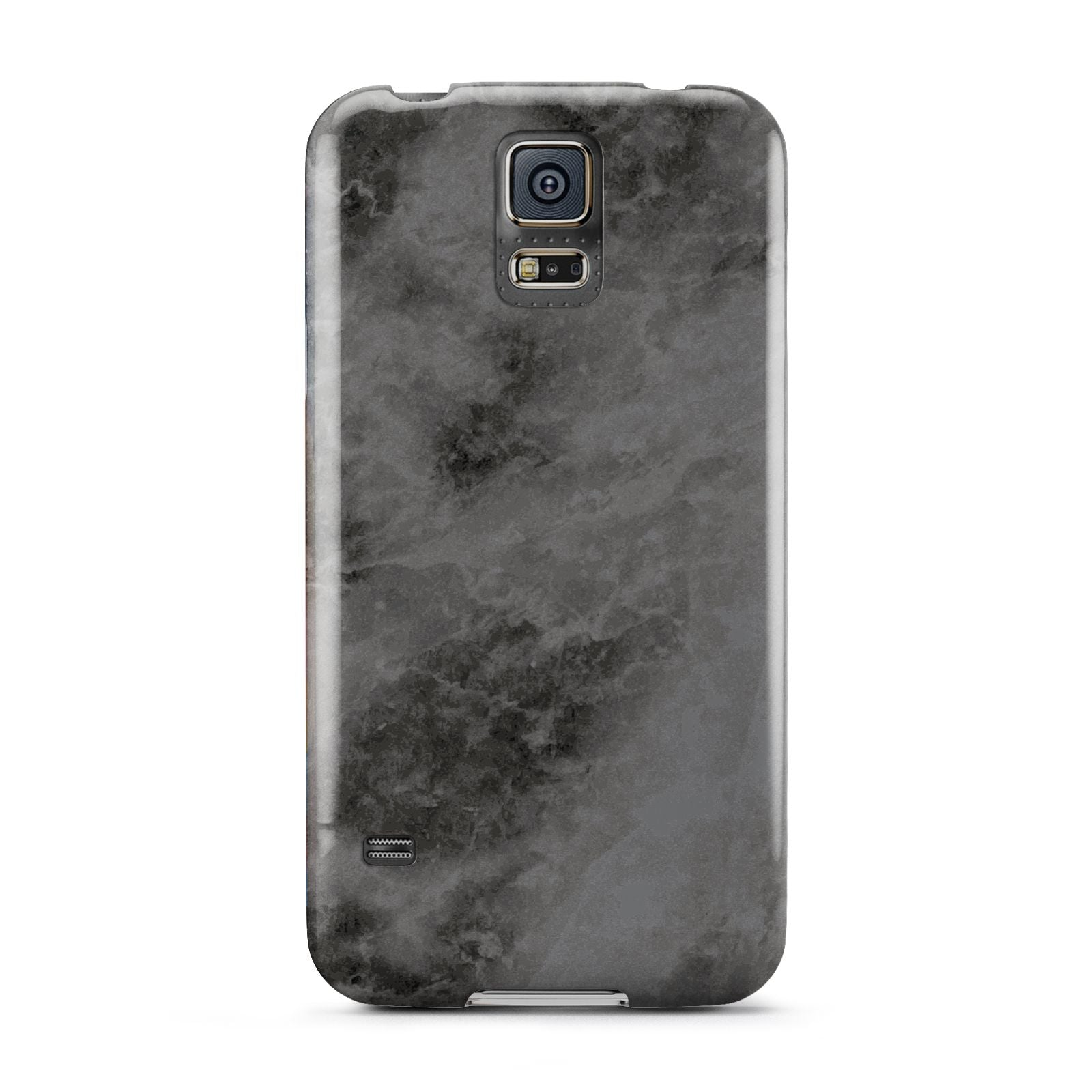 Faux Marble Grey Black Samsung Galaxy S5 Case
