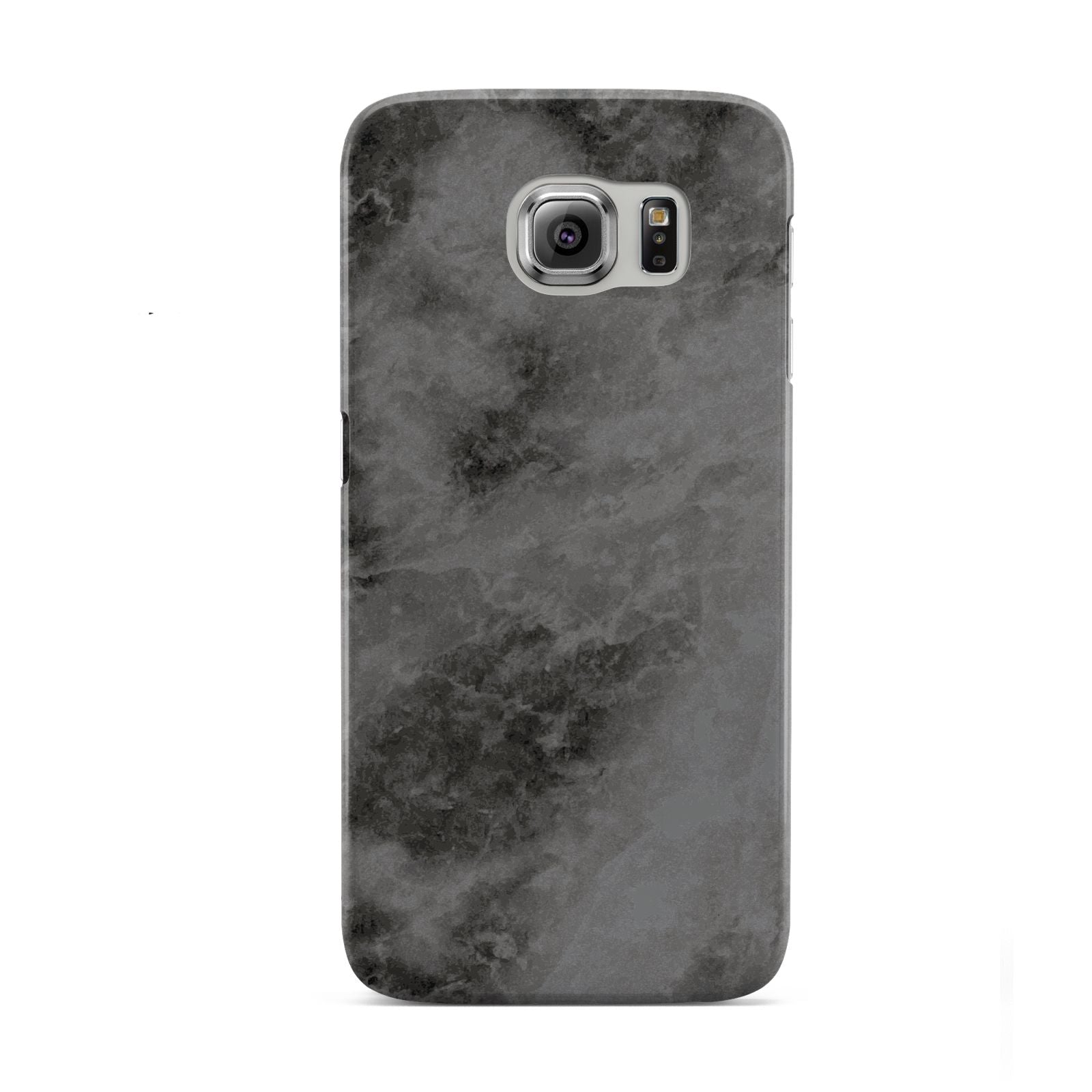Faux Marble Grey Black Samsung Galaxy S6 Case