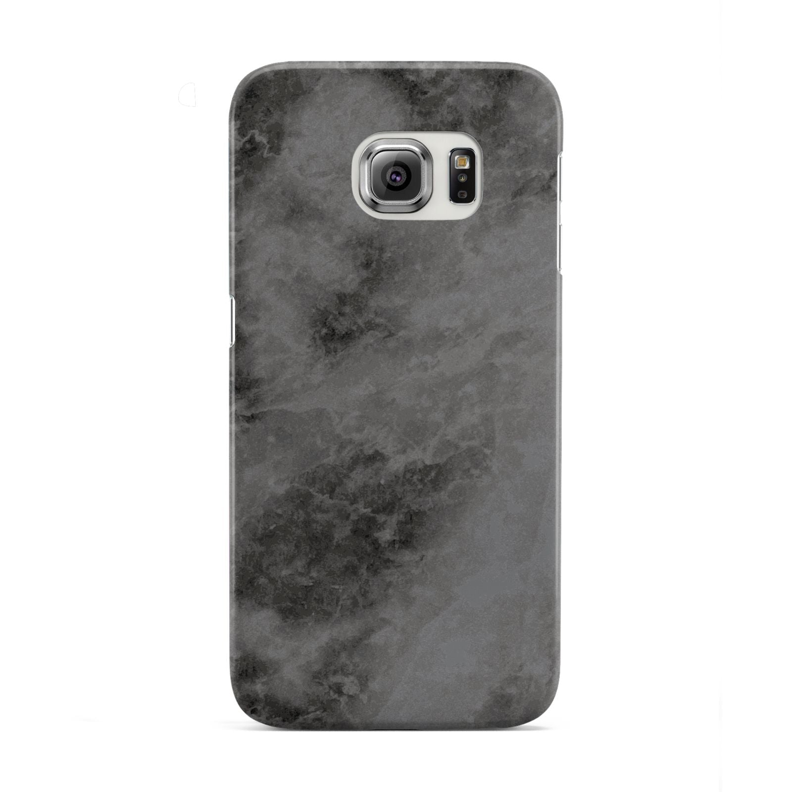 Faux Marble Grey Black Samsung Galaxy S6 Edge Case