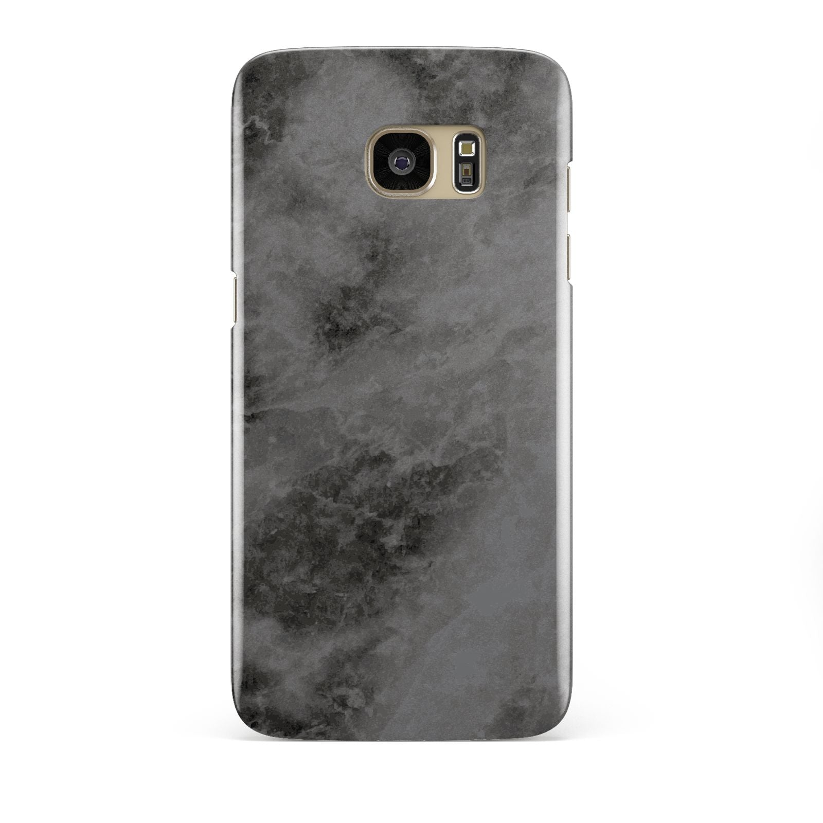 Faux Marble Grey Black Samsung Galaxy S7 Edge Case