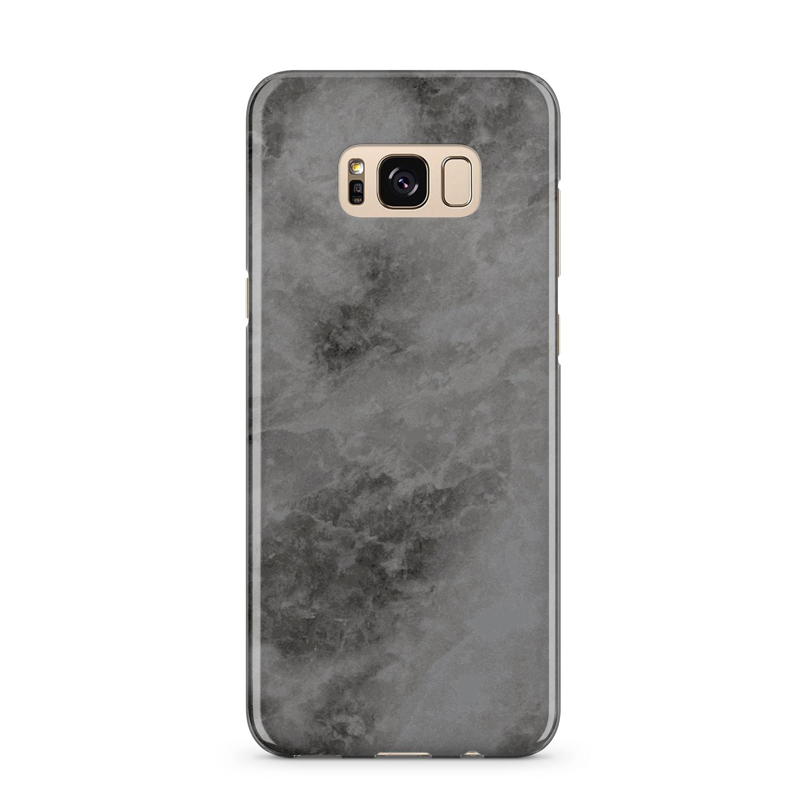 Faux Marble Grey Black Samsung Galaxy S8 Plus Case