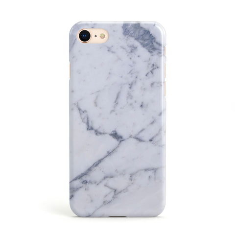 Faux Marble Grey White Apple iPhone Case