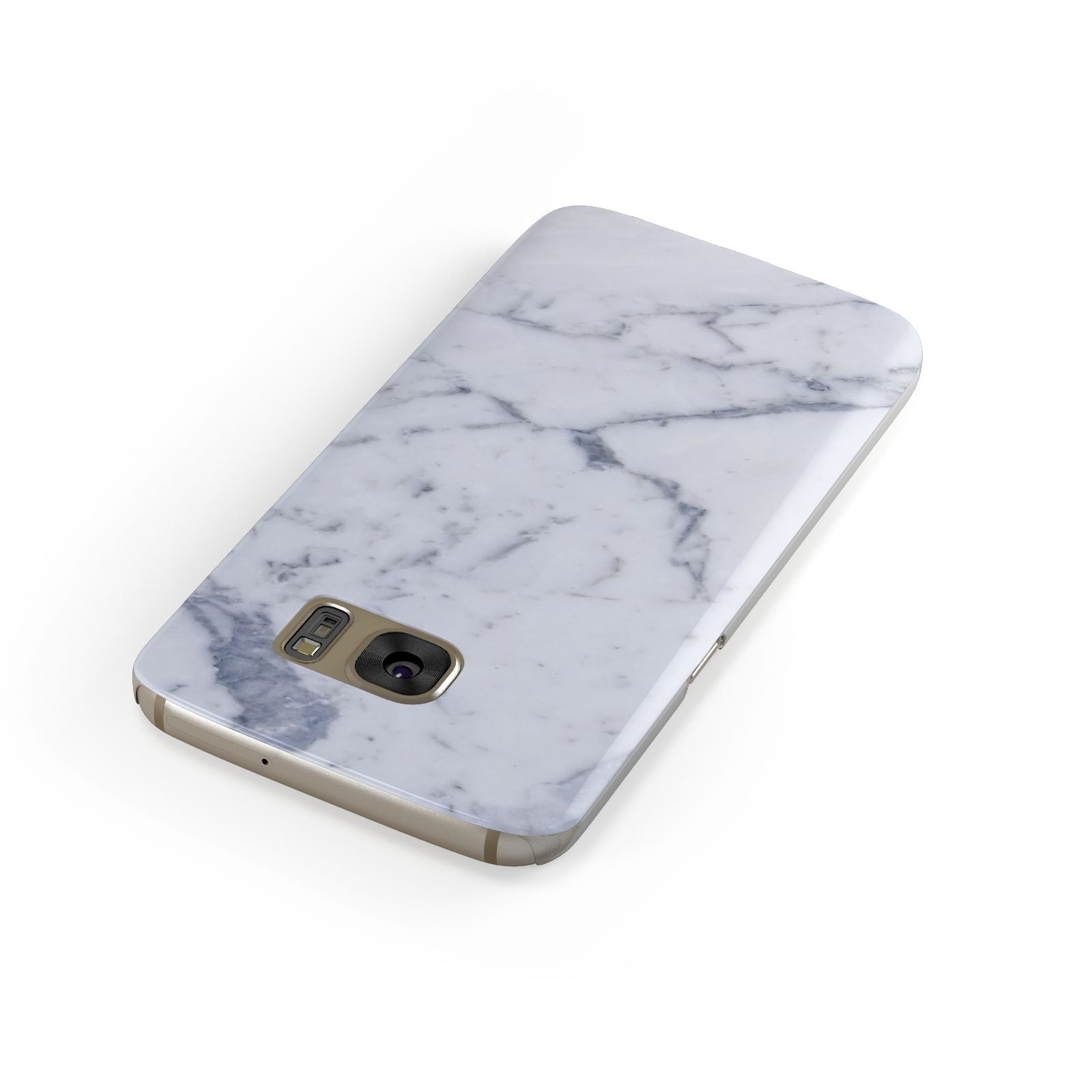 Faux Marble Grey White Samsung Galaxy Case Front Close Up