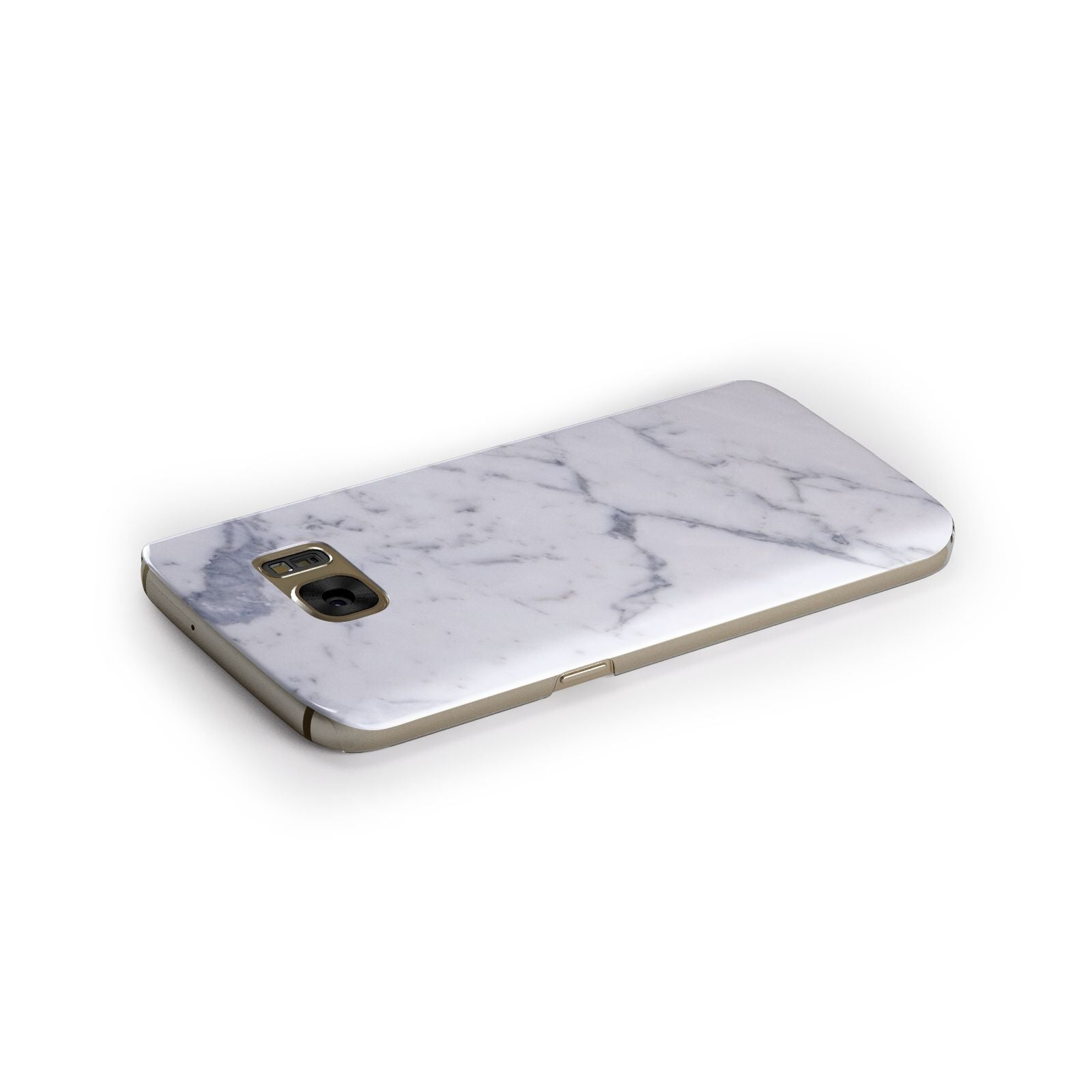 Faux Marble Grey White Samsung Galaxy Case Side Close Up