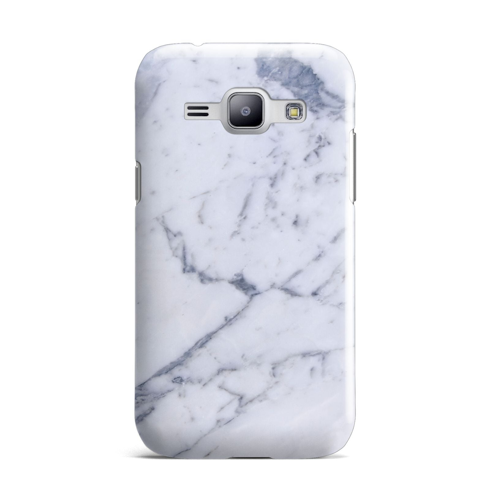 Faux Marble Grey White Samsung Galaxy J1 2015 Case