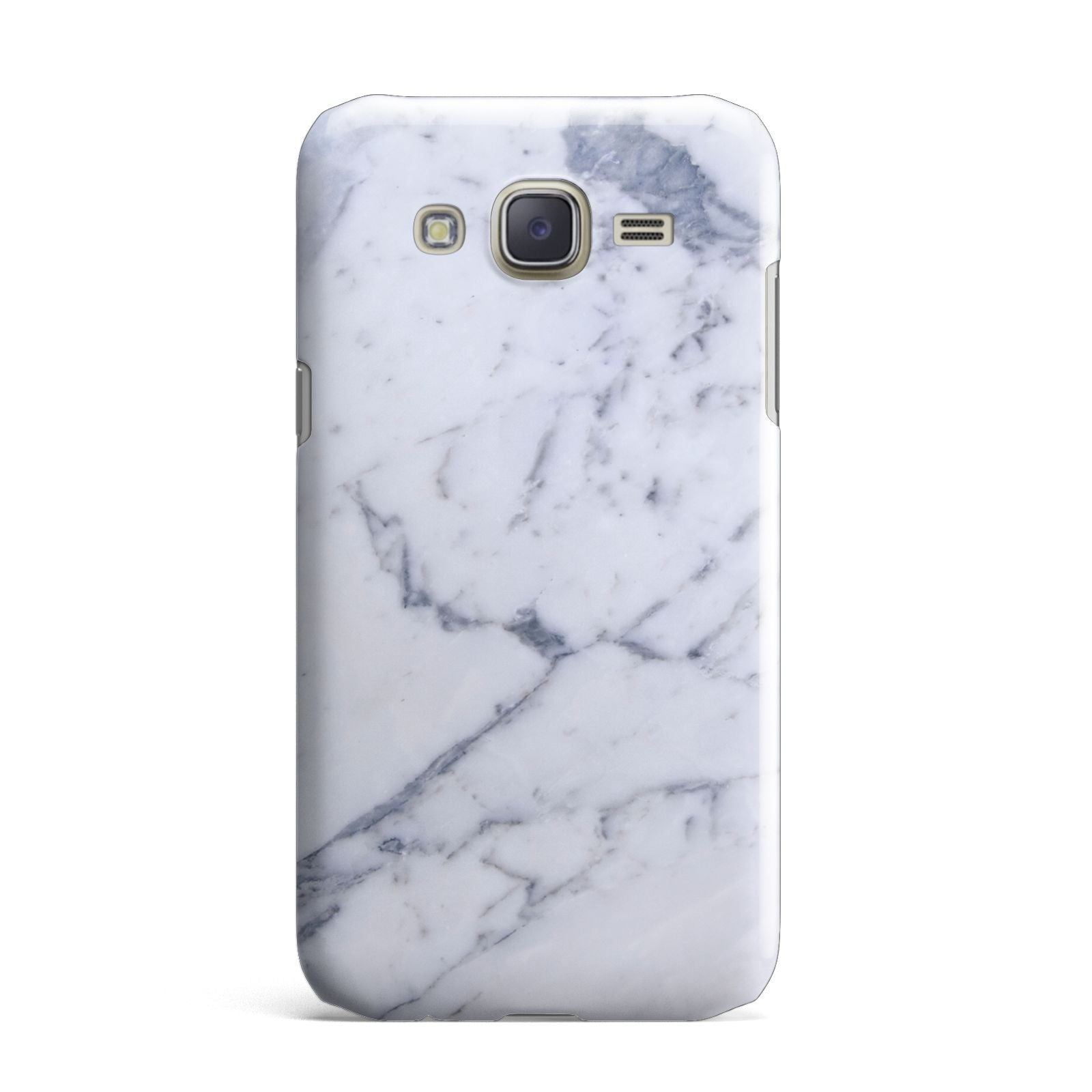 Faux Marble Grey White Samsung Galaxy J7 Case