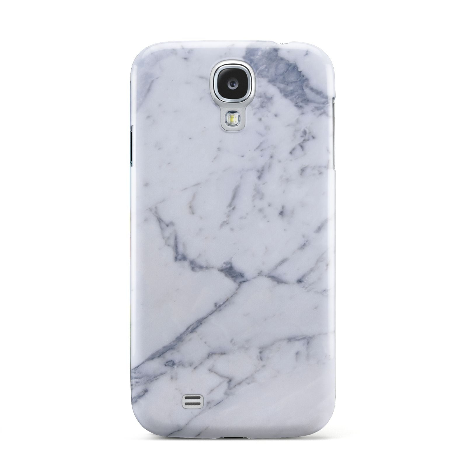 Faux Marble Grey White Samsung Galaxy S4 Case