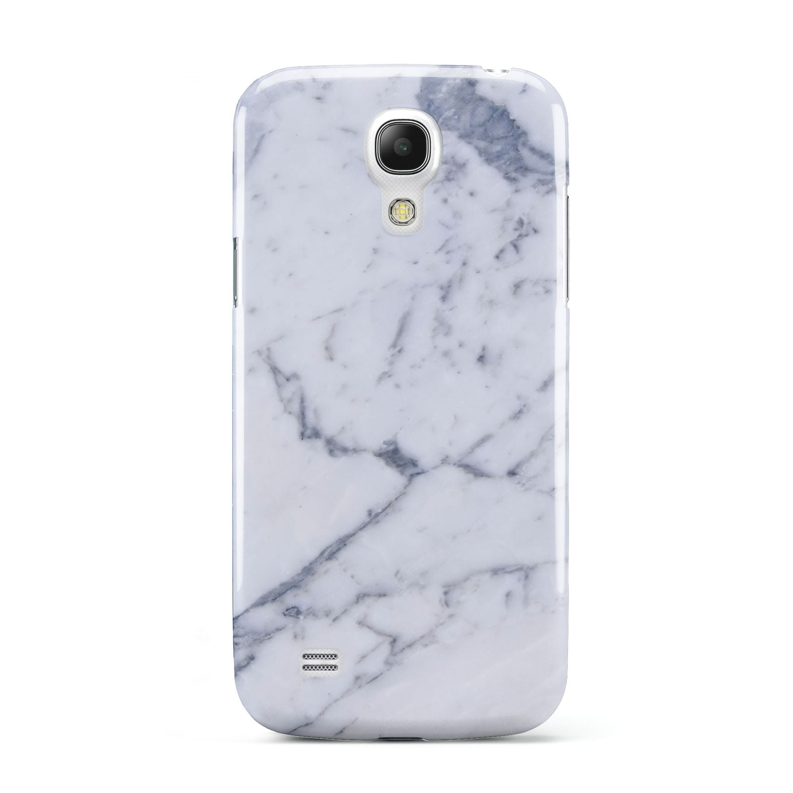 Faux Marble Grey White Samsung Galaxy S4 Mini Case