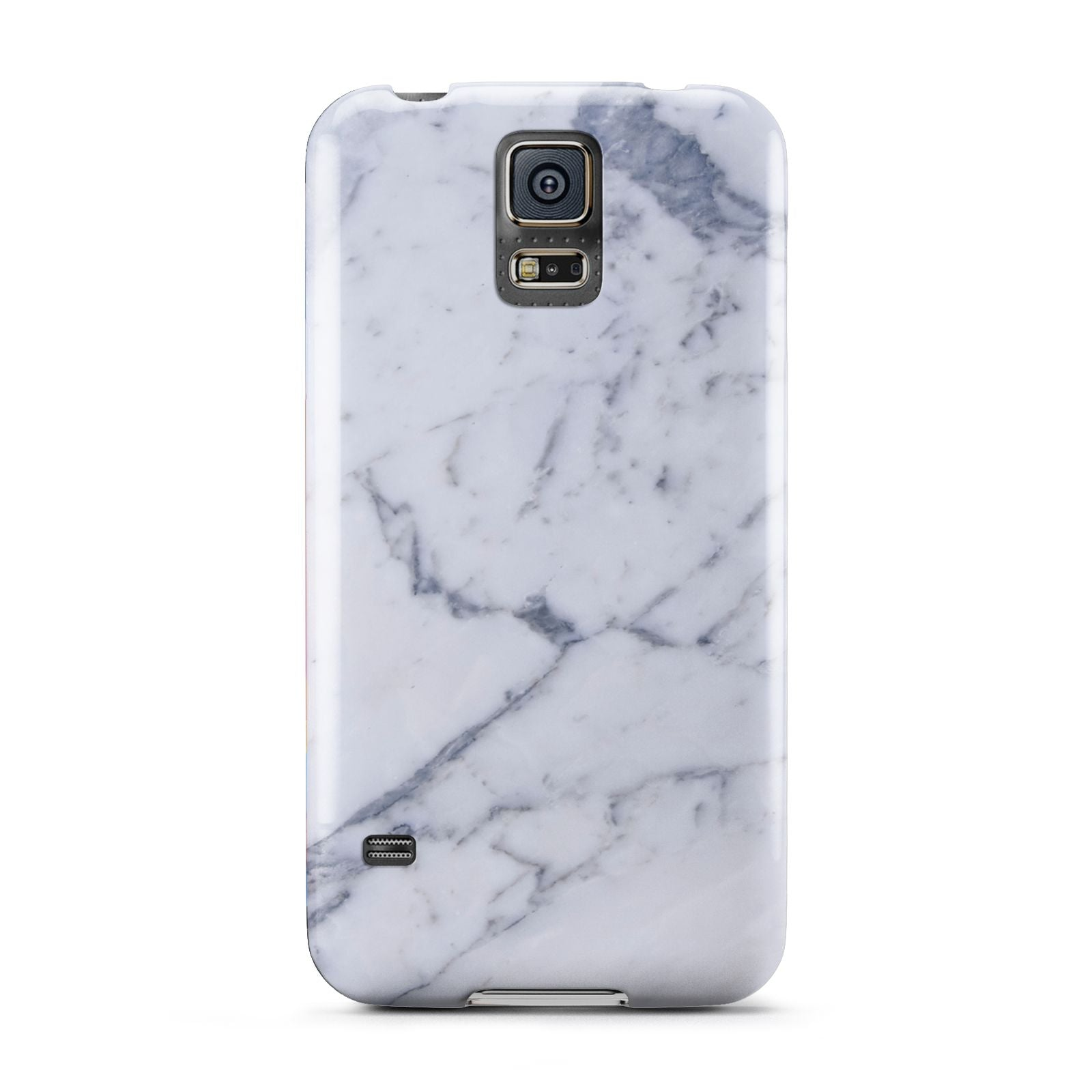Faux Marble Grey White Samsung Galaxy S5 Case