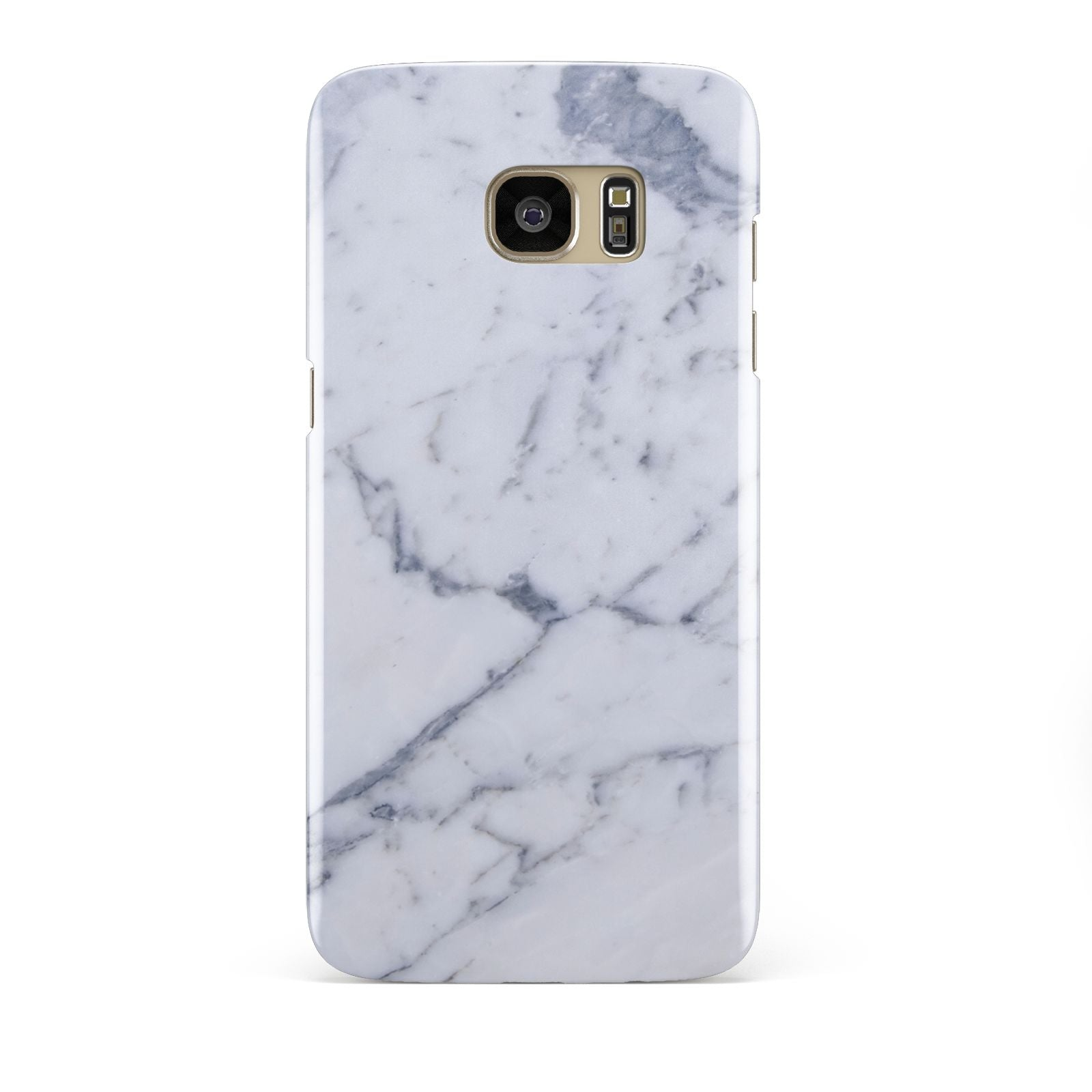 Faux Marble Grey White Samsung Galaxy S7 Edge Case