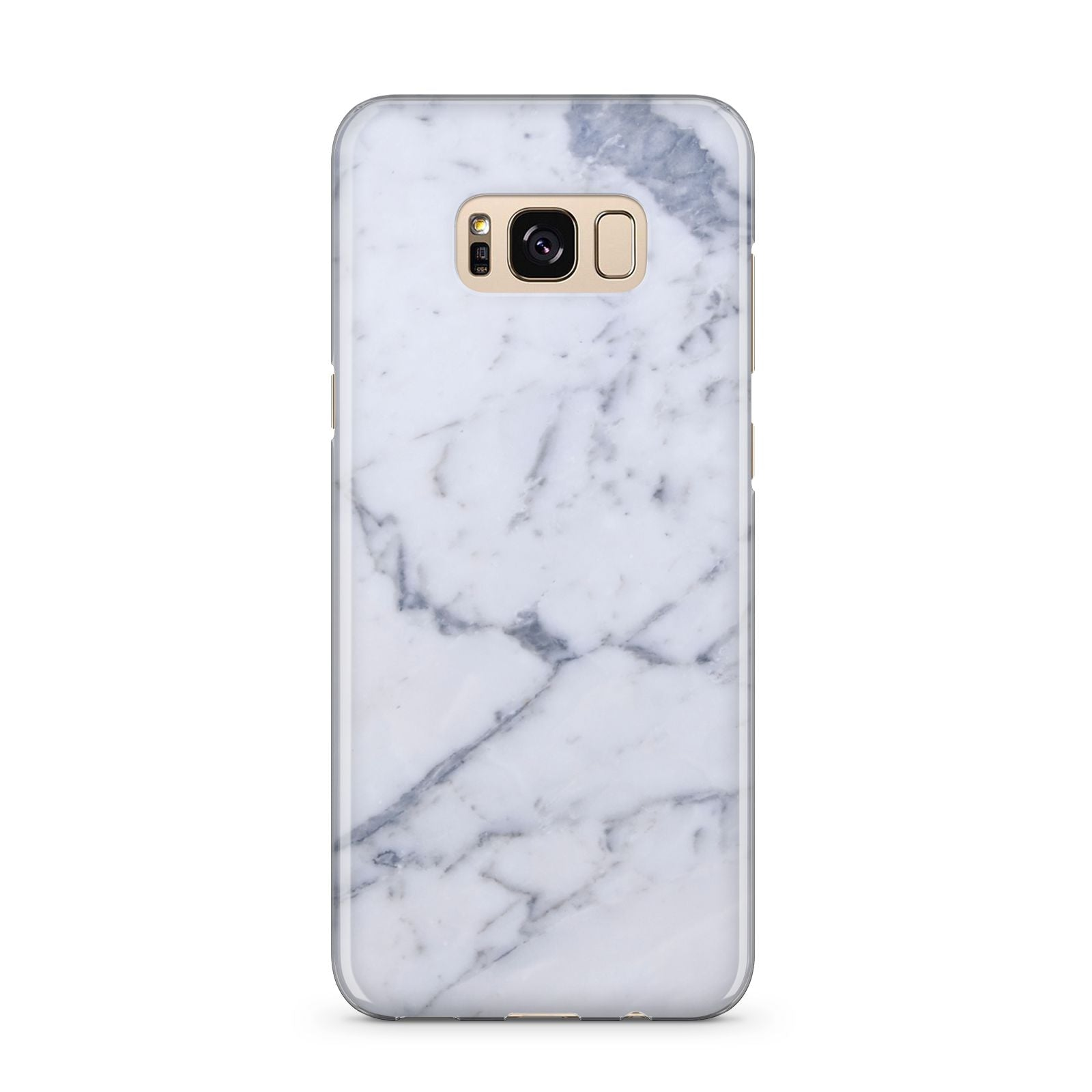 Faux Marble Grey White Samsung Galaxy S8 Plus Case