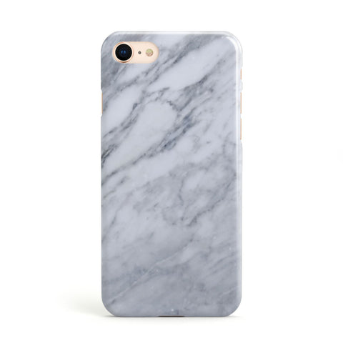 Faux Marble Italian Grey Apple iPhone Case