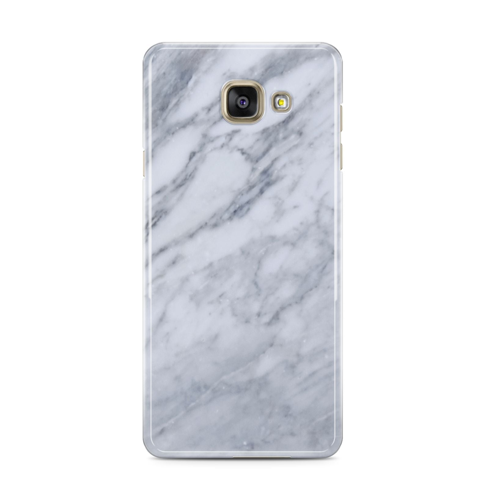 Faux Marble Italian Grey Samsung Galaxy A3 2016 Case on gold phone