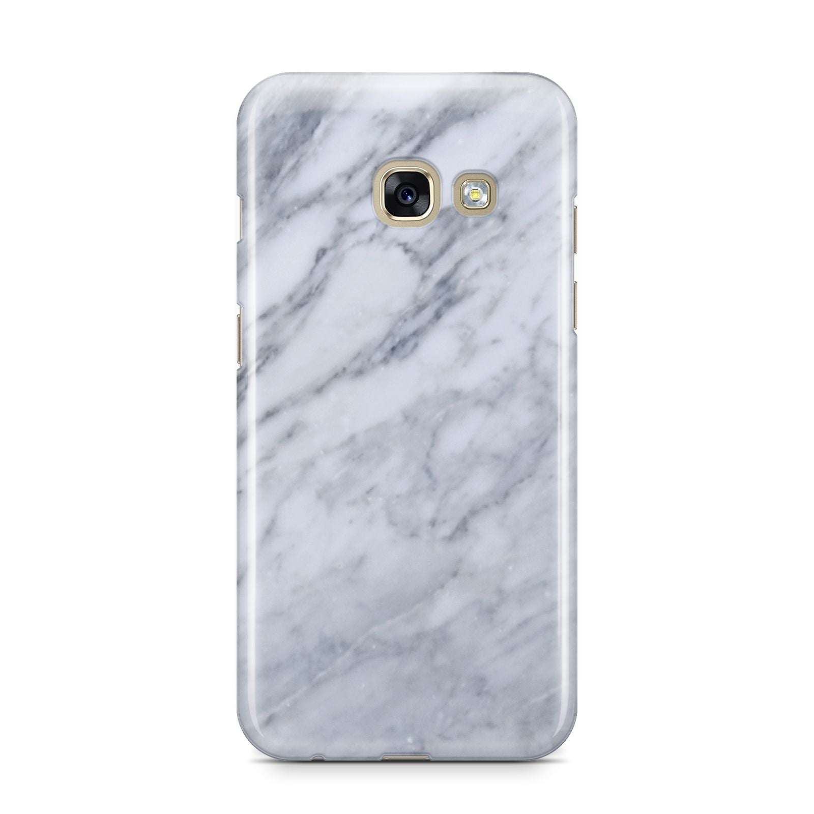 Faux Marble Italian Grey Samsung Galaxy A3 2017 Case on gold phone