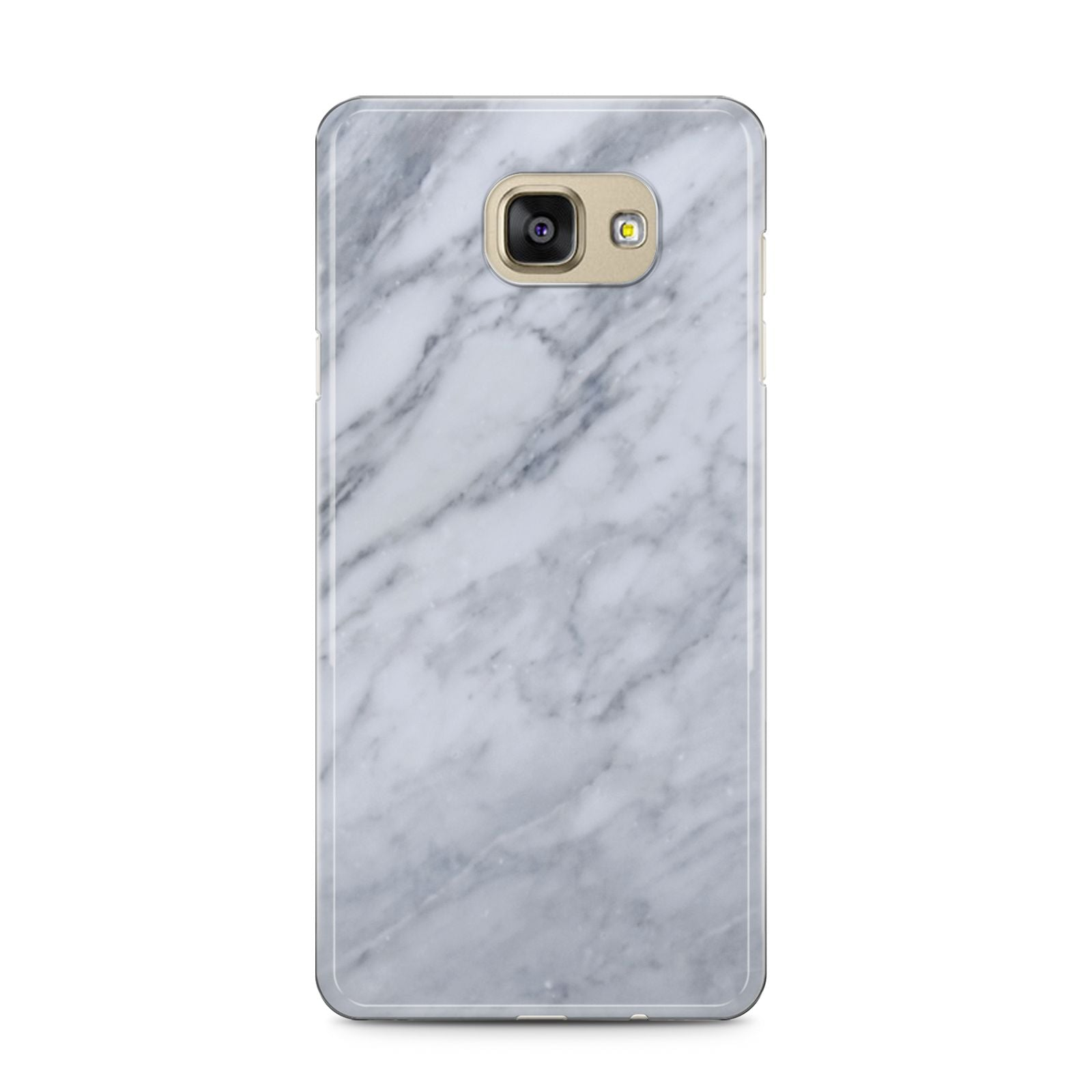 Faux Marble Italian Grey Samsung Galaxy A5 2016 Case on gold phone
