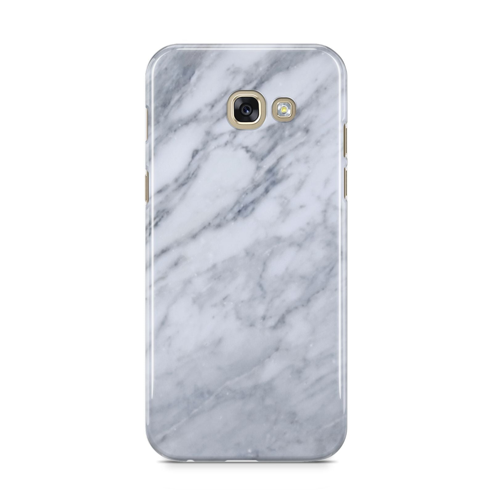Faux Marble Italian Grey Samsung Galaxy A5 2017 Case on gold phone