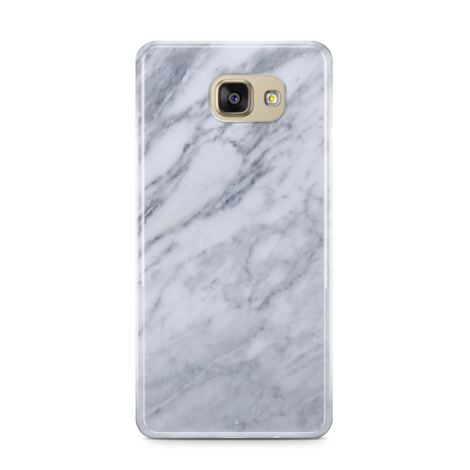 Faux Marble Italian Grey Samsung Galaxy A9 2016 Case on gold phone
