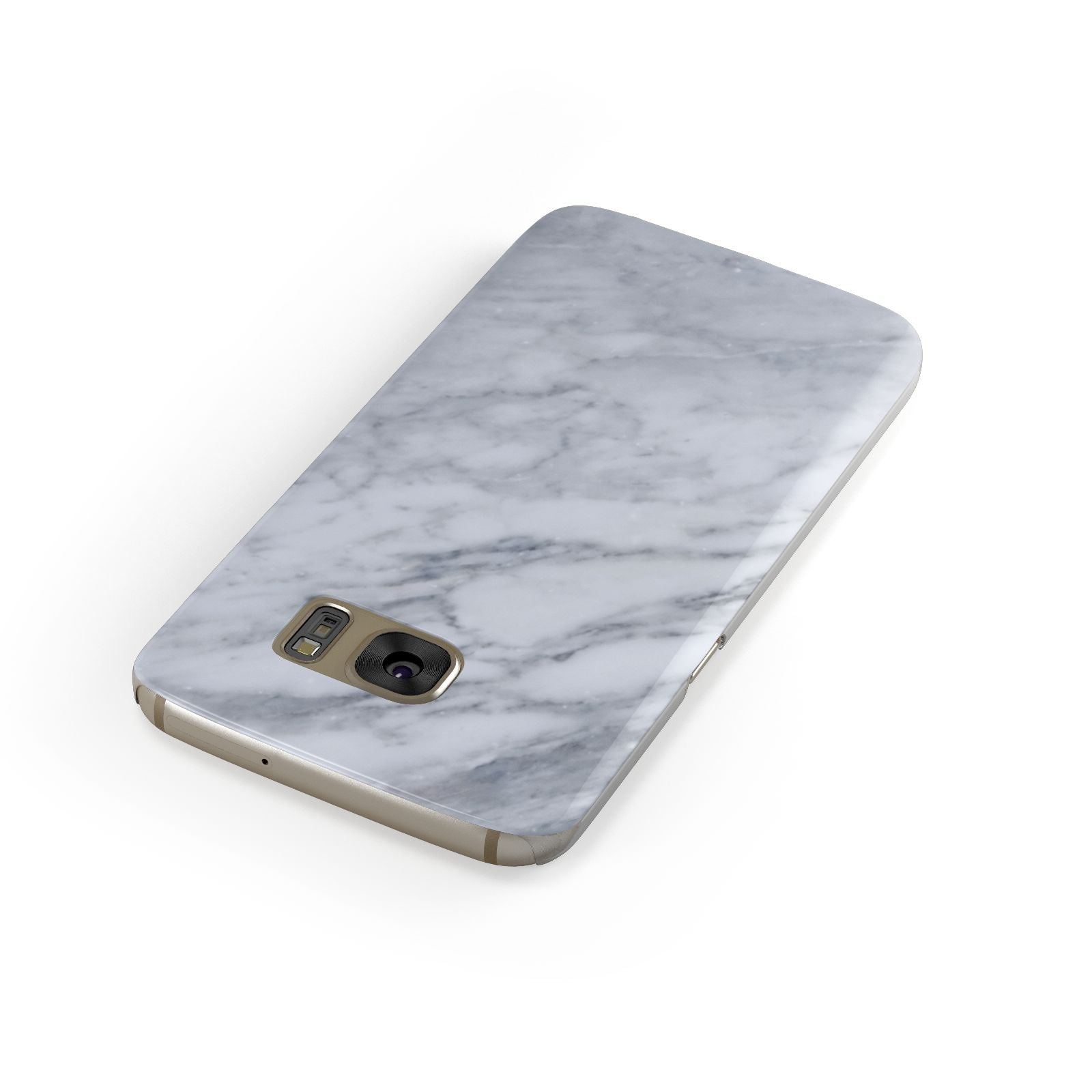 Faux Marble Italian Grey Samsung Galaxy Case Front Close Up