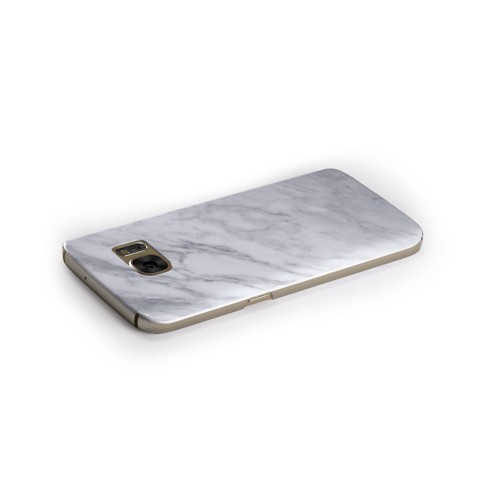 Faux Marble Italian Grey Samsung Galaxy Case Side Close Up