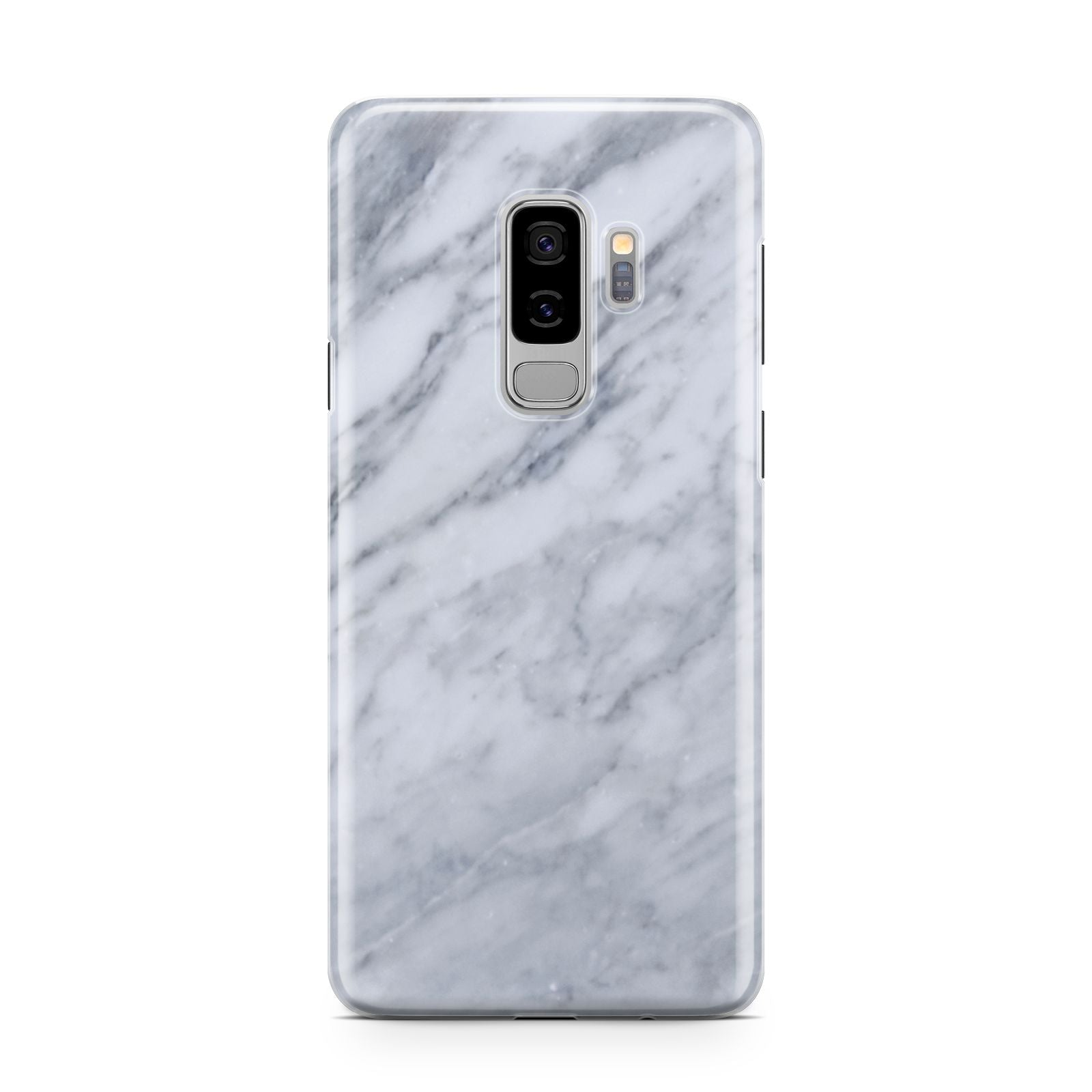 Faux Marble Italian Grey Samsung Galaxy S9 Plus Case on Silver phone