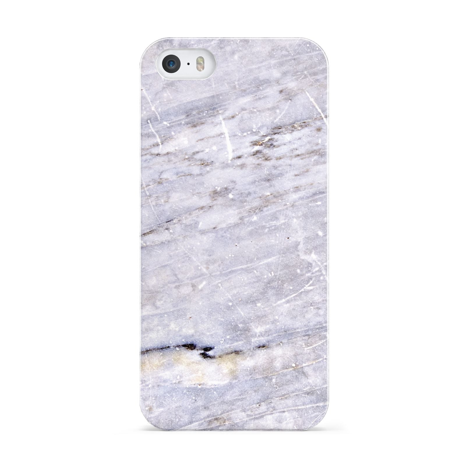 Faux Marble Mid Grey Apple iPhone 5 Case