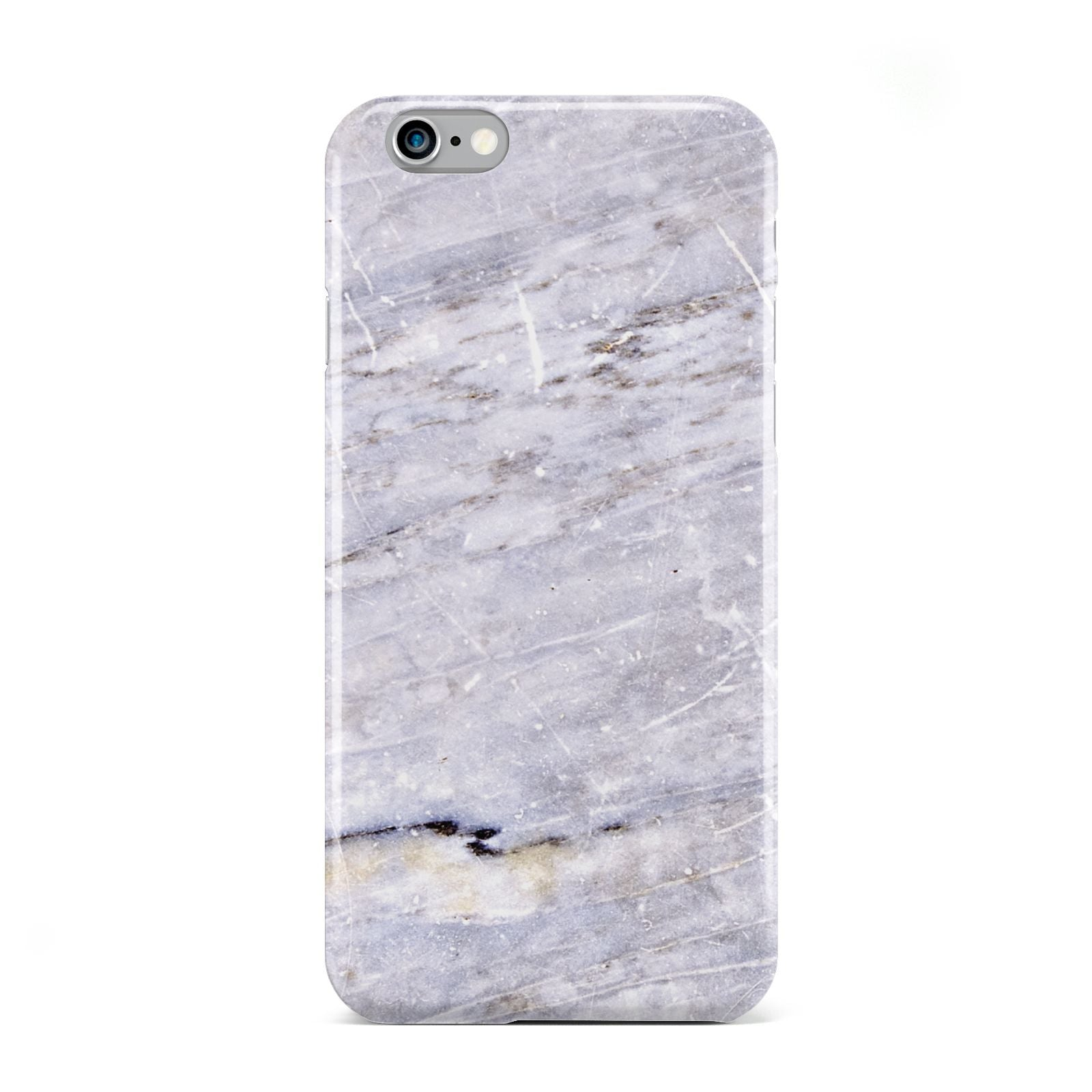 Faux Marble Mid Grey Apple iPhone 6 Case