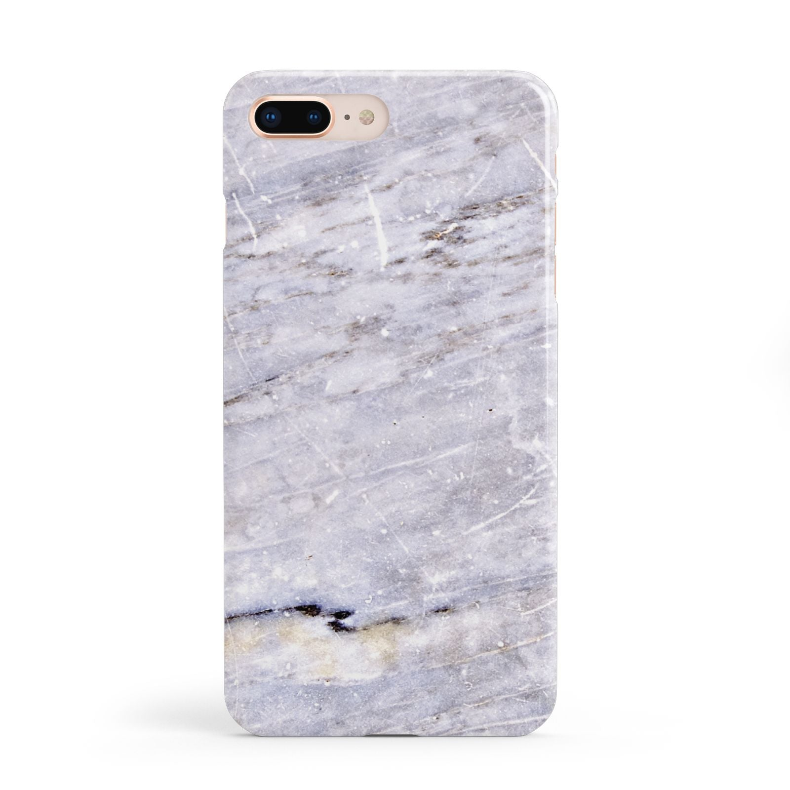 Faux Marble Mid Grey Apple iPhone 8 Plus Case
