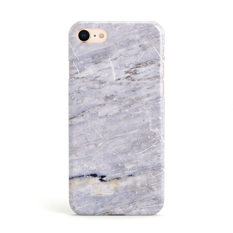 Faux Marble Mid Grey Apple iPhone Case