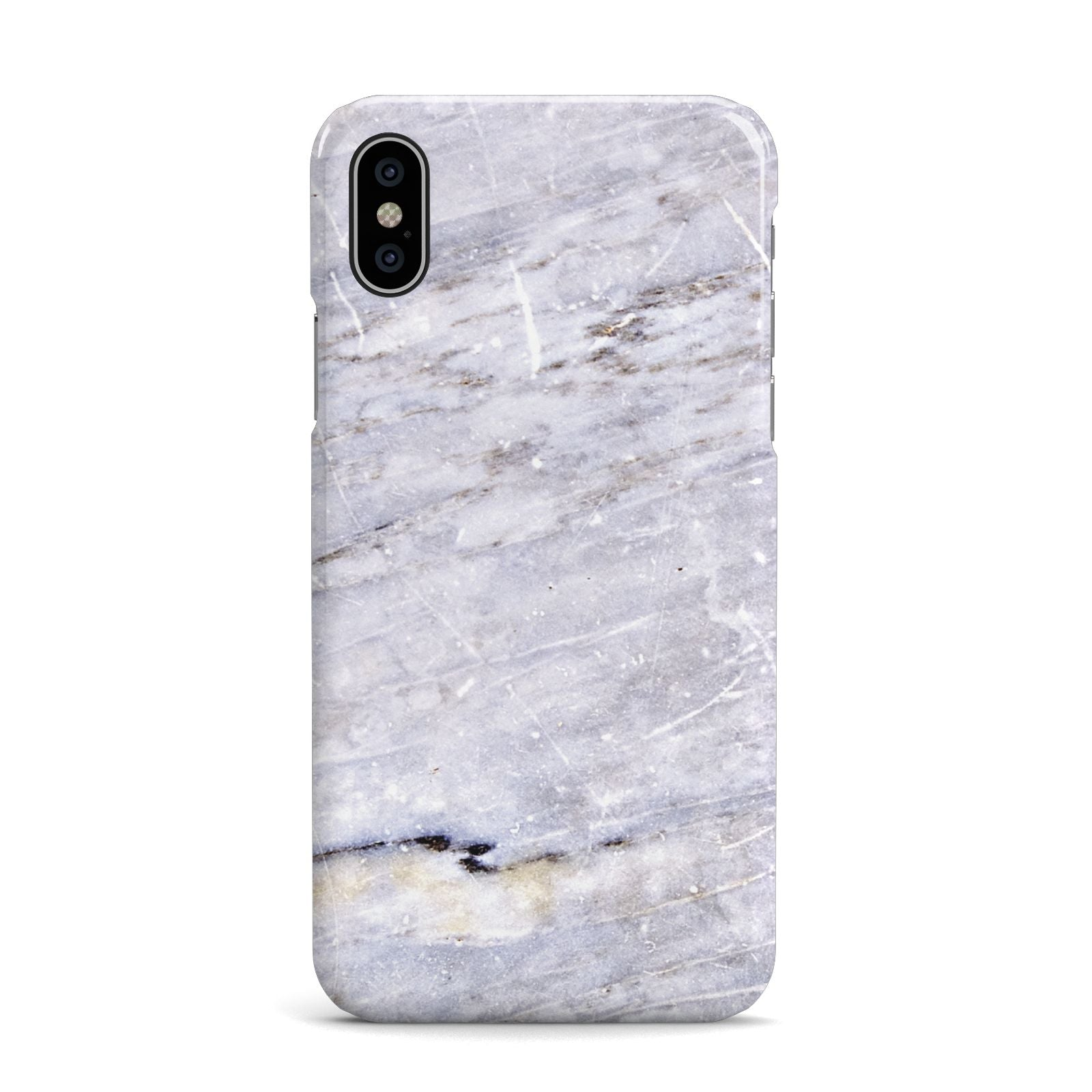 Faux Marble Mid Grey Apple iPhone X Case
