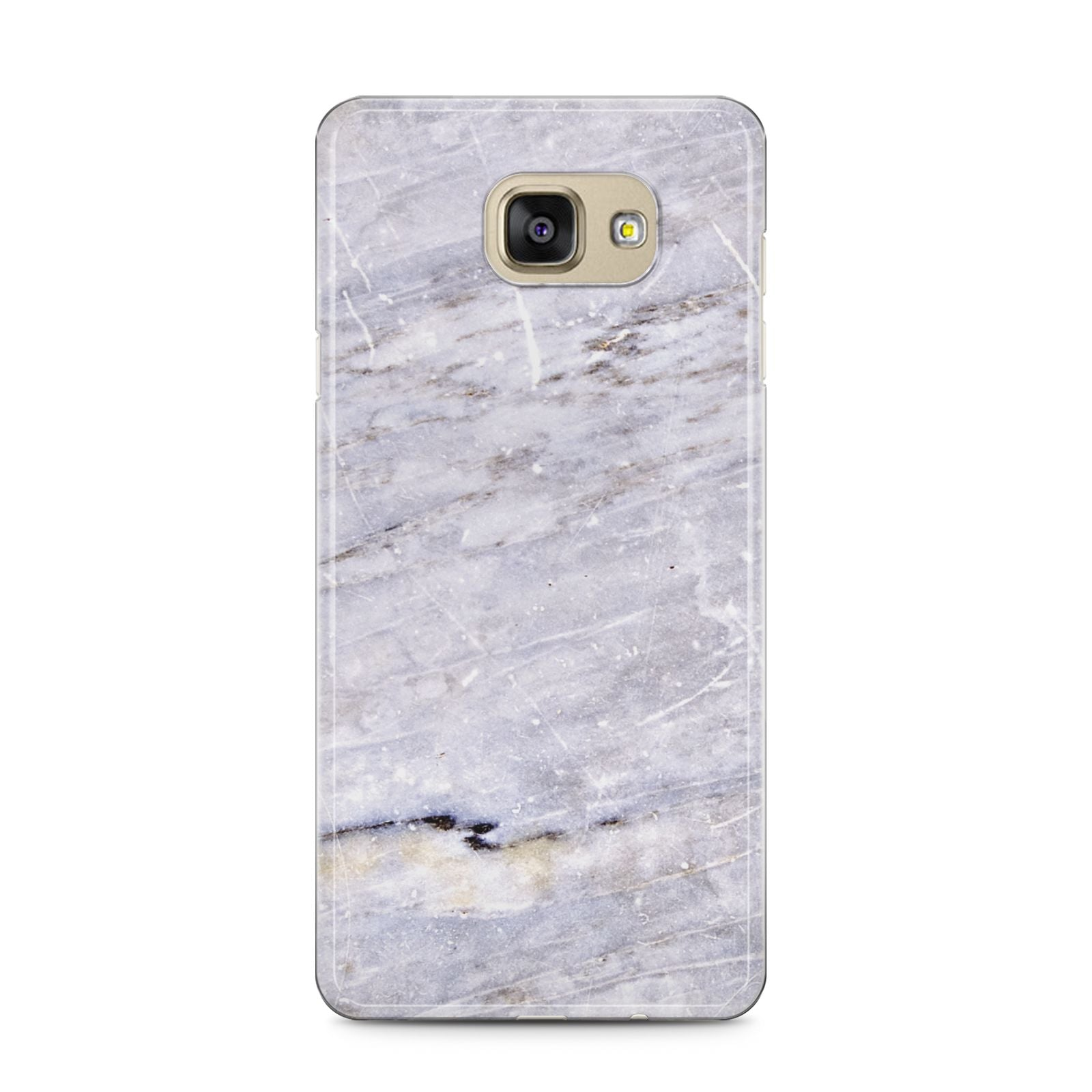 Faux Marble Mid Grey Samsung Galaxy A5 2016 Case on gold phone