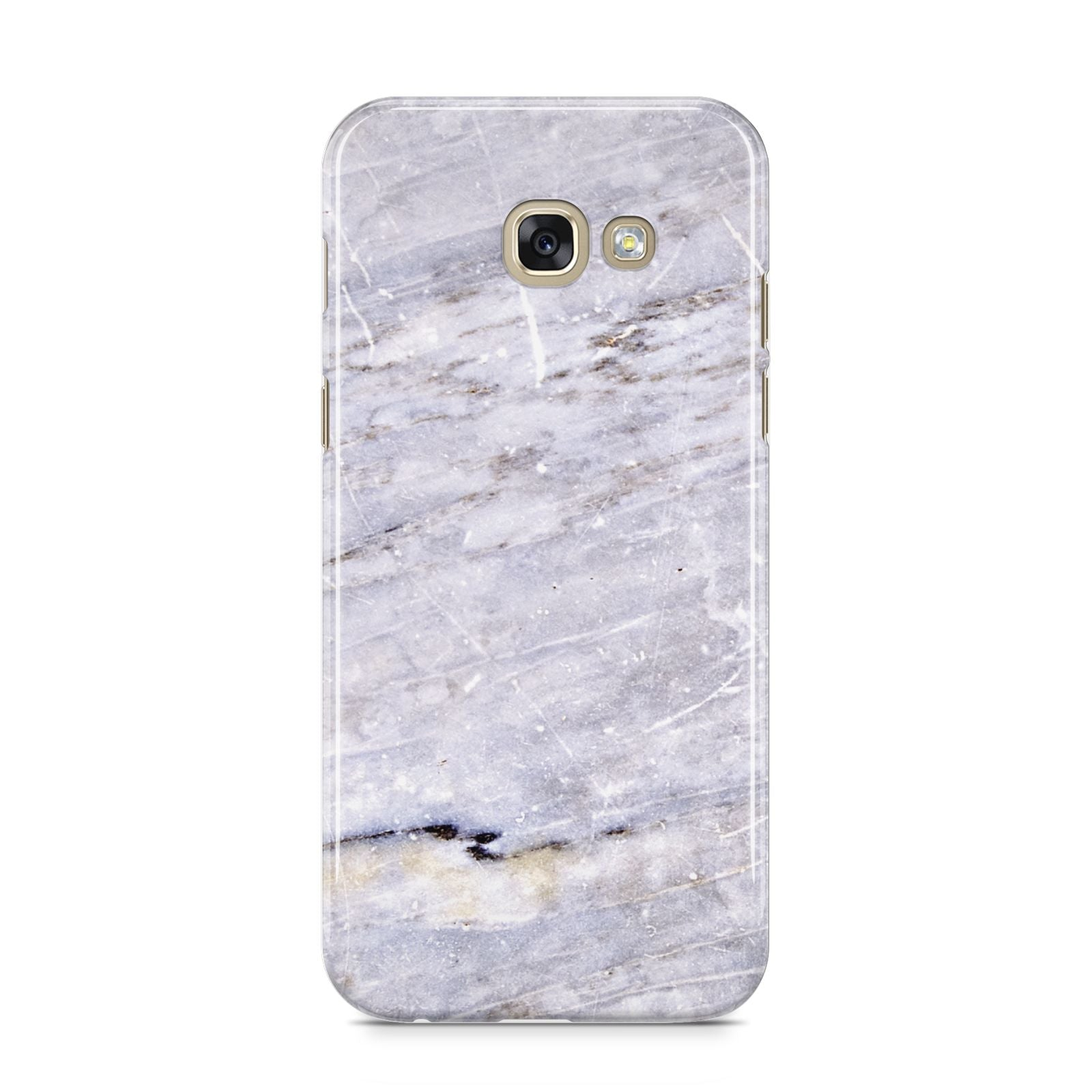 Faux Marble Mid Grey Samsung Galaxy A5 2017 Case on gold phone
