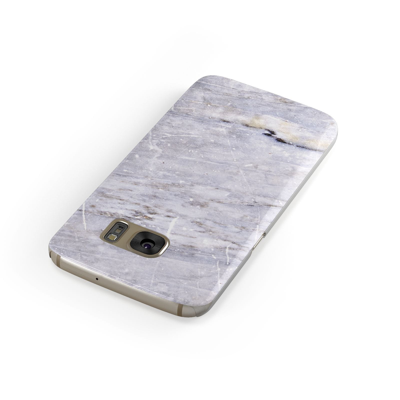 Faux Marble Mid Grey Samsung Galaxy Case Front Close Up