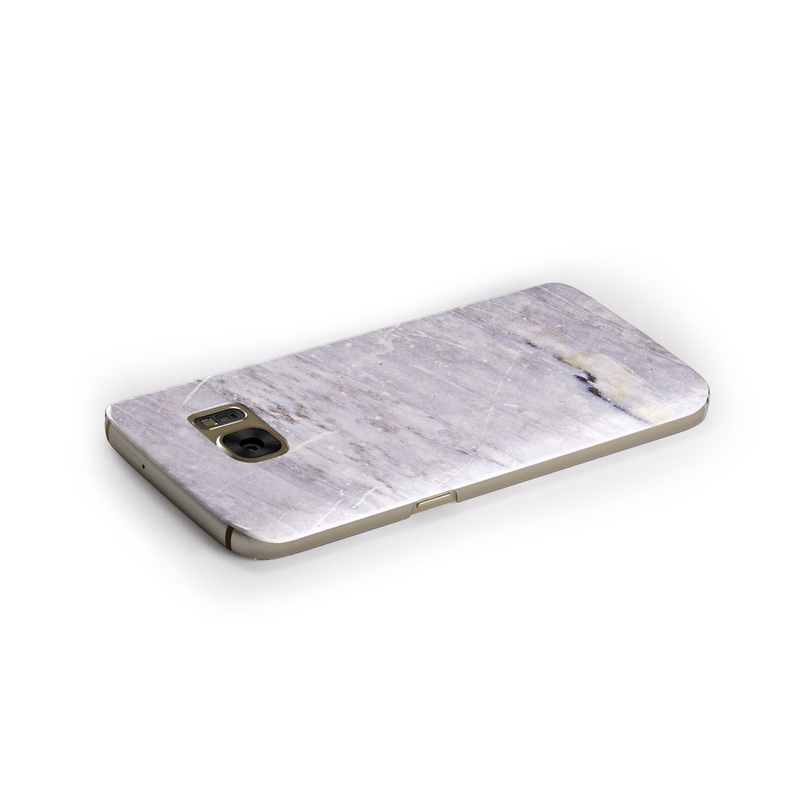 Faux Marble Mid Grey Samsung Galaxy Case Side Close Up