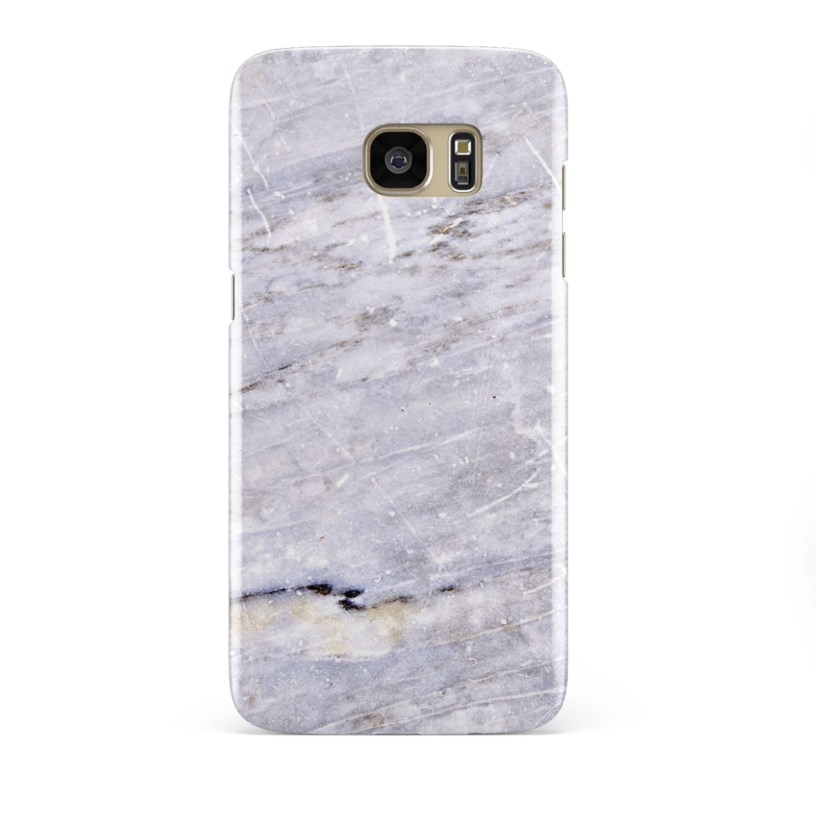Faux Marble Mid Grey Samsung Galaxy S7 Edge Case