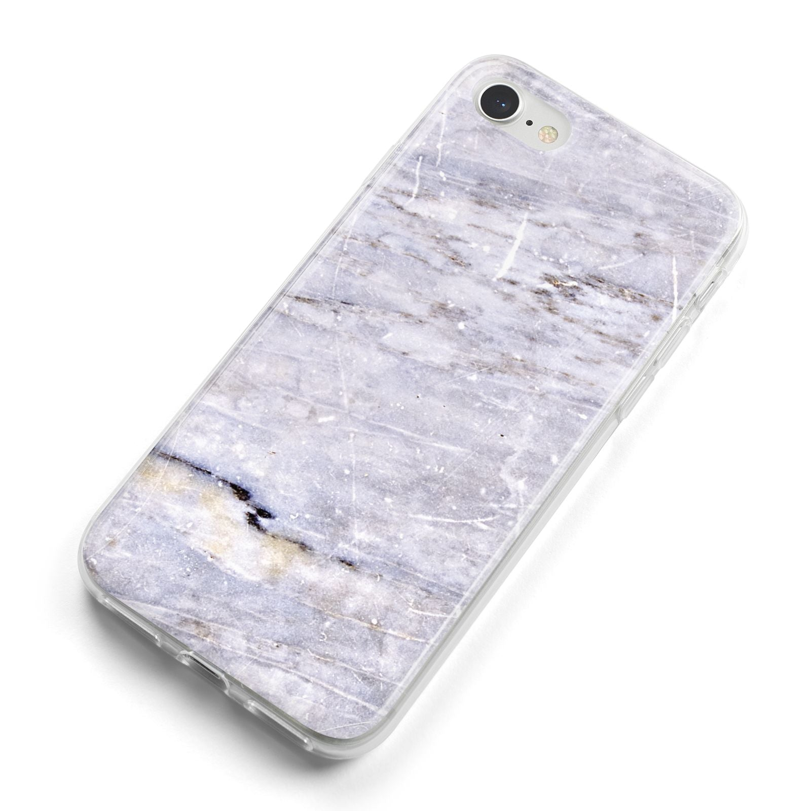 Faux Marble Mid Grey iPhone 8 Bumper Case on Silver iPhone Alternative Image