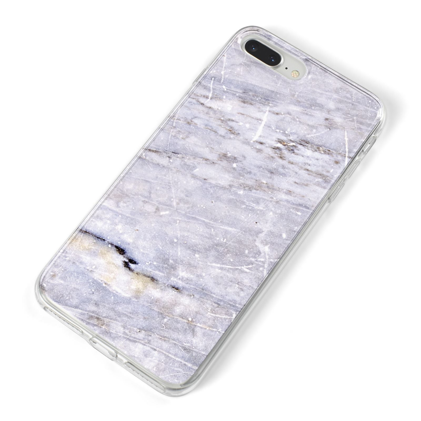 Faux Marble Mid Grey iPhone 8 Plus Bumper Case on Silver iPhone Alternative Image