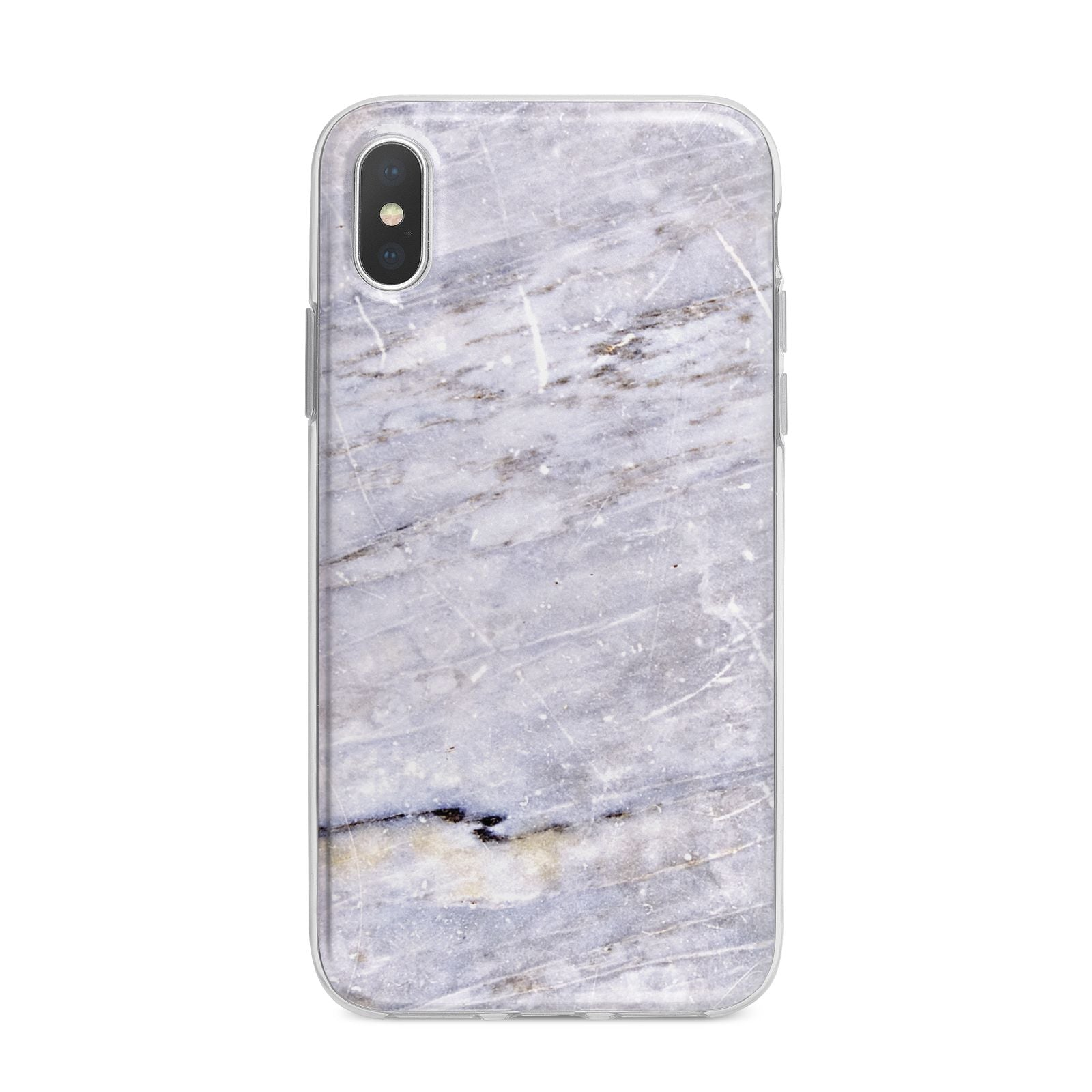 Faux Marble Mid Grey iPhone X Bumper Case on Silver iPhone Alternative Image 1